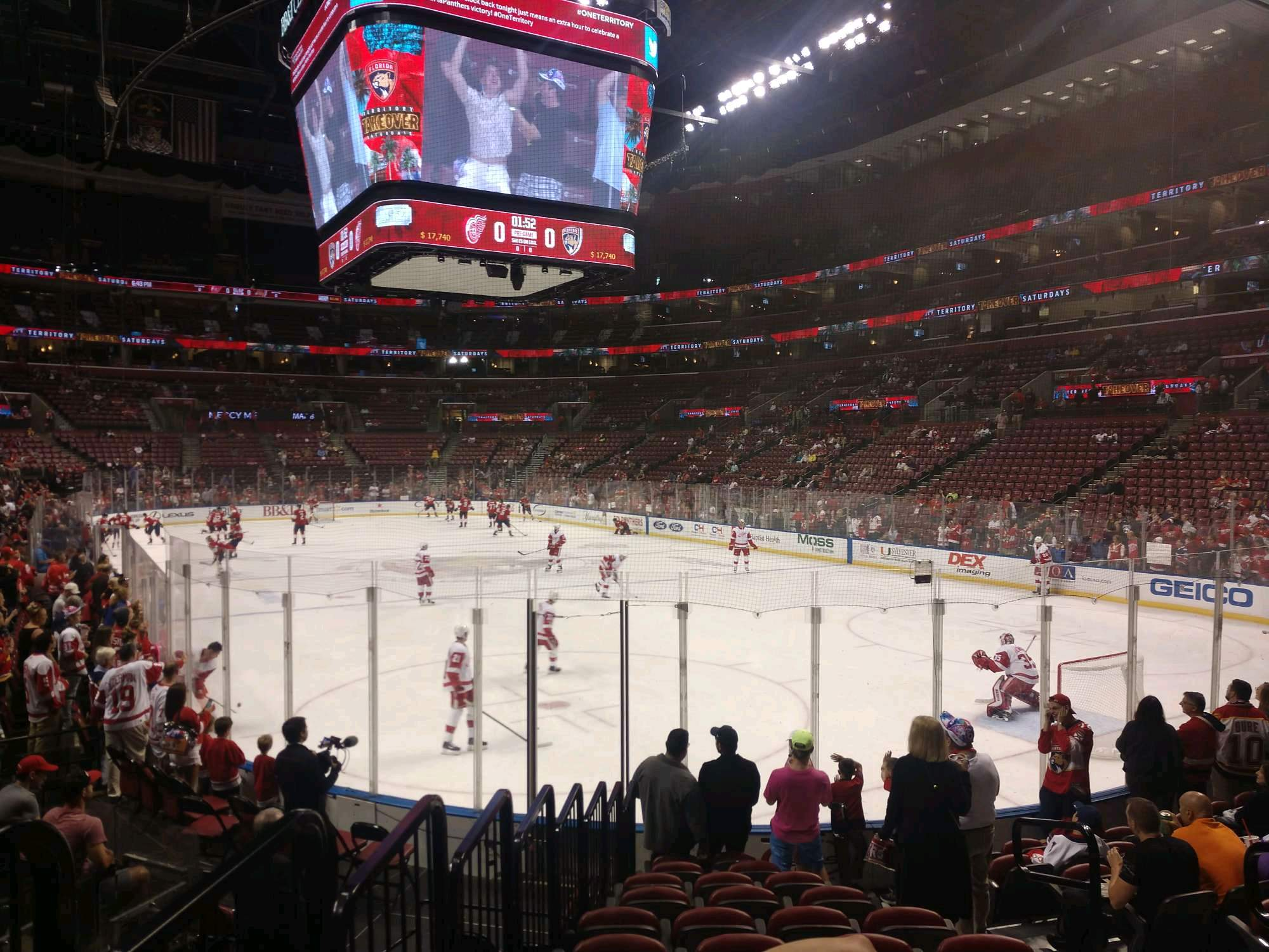 BB&T Center Section 129 Row 11 Seat 5
