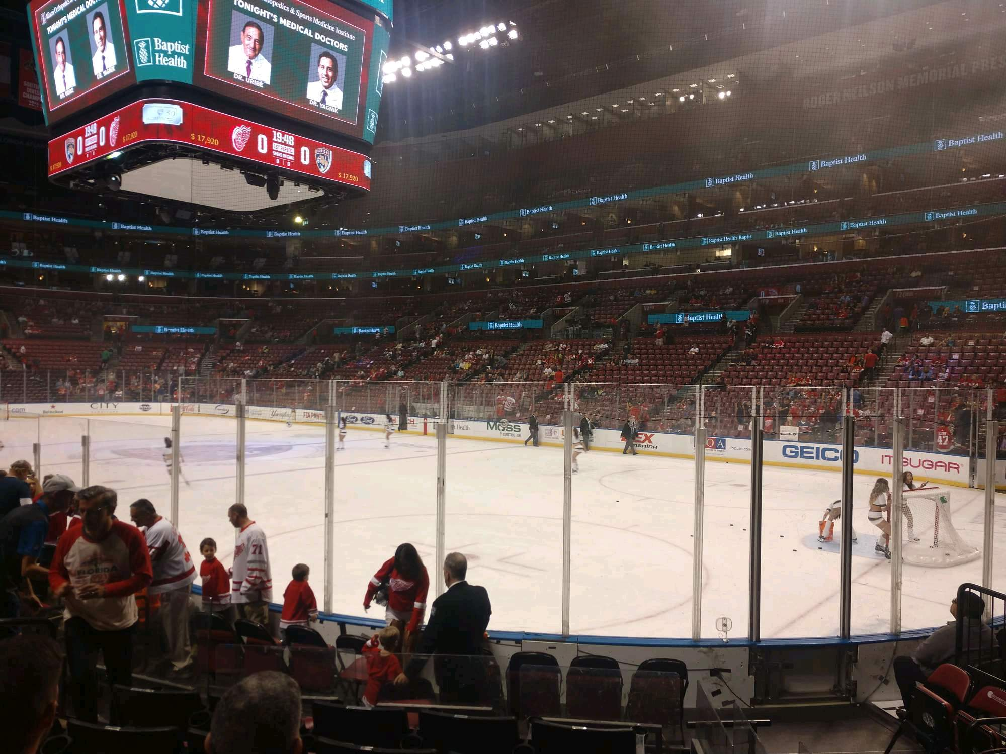 BB&T Center Section 131 Row 9 Seat 2