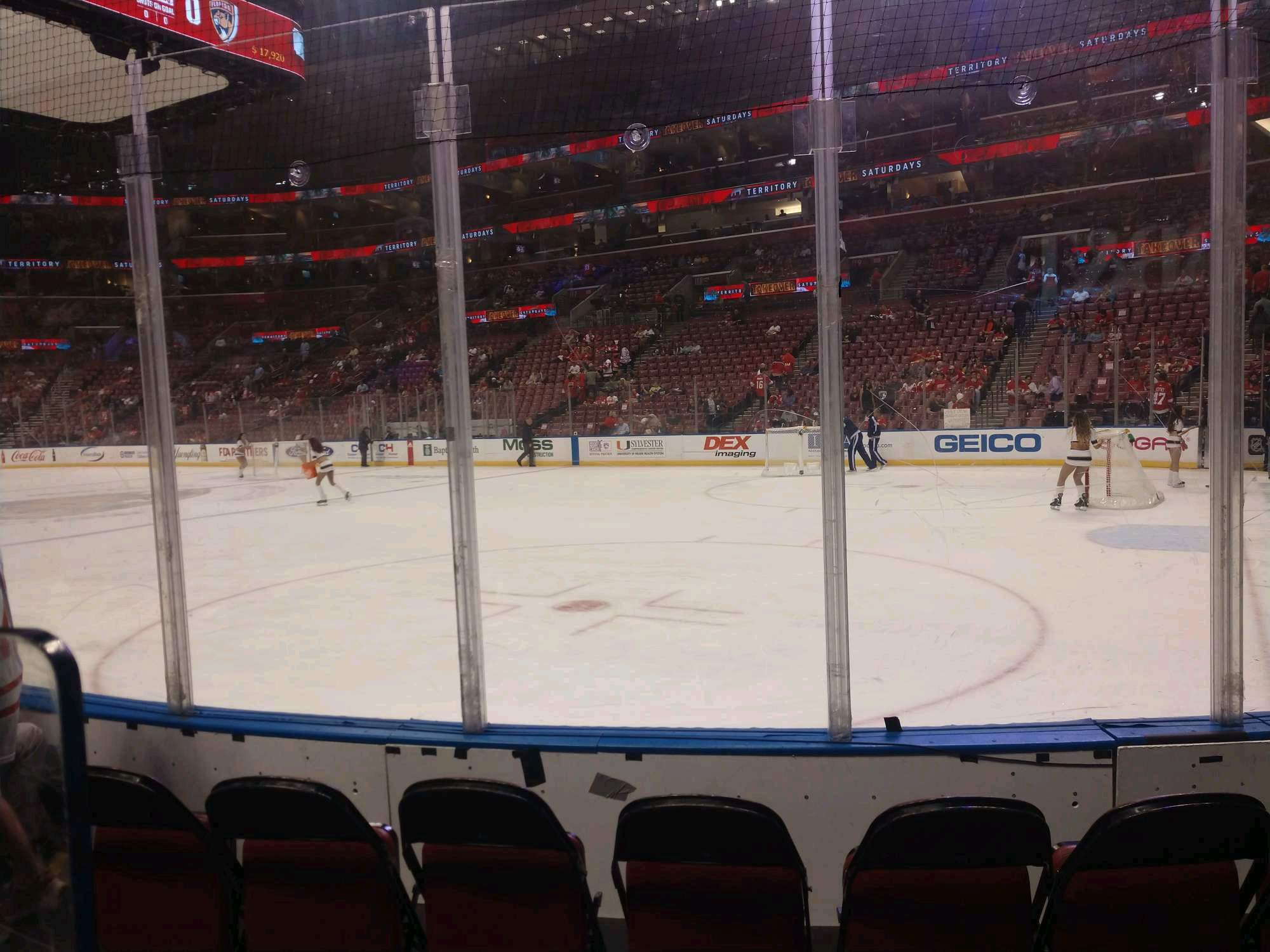 BB&T Center Section 131 Row 4 Seat 5