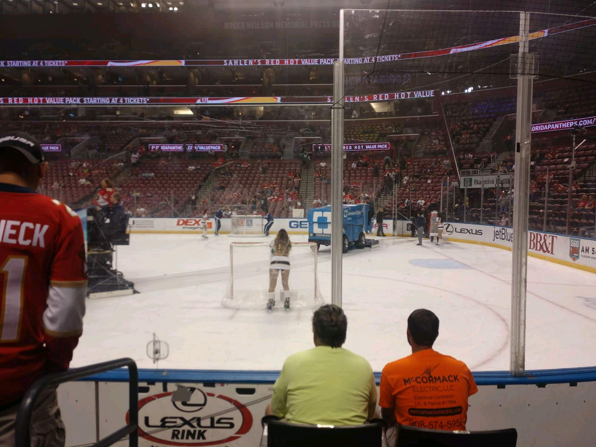 BB&T Center Section 132 Row 4 Seat 6