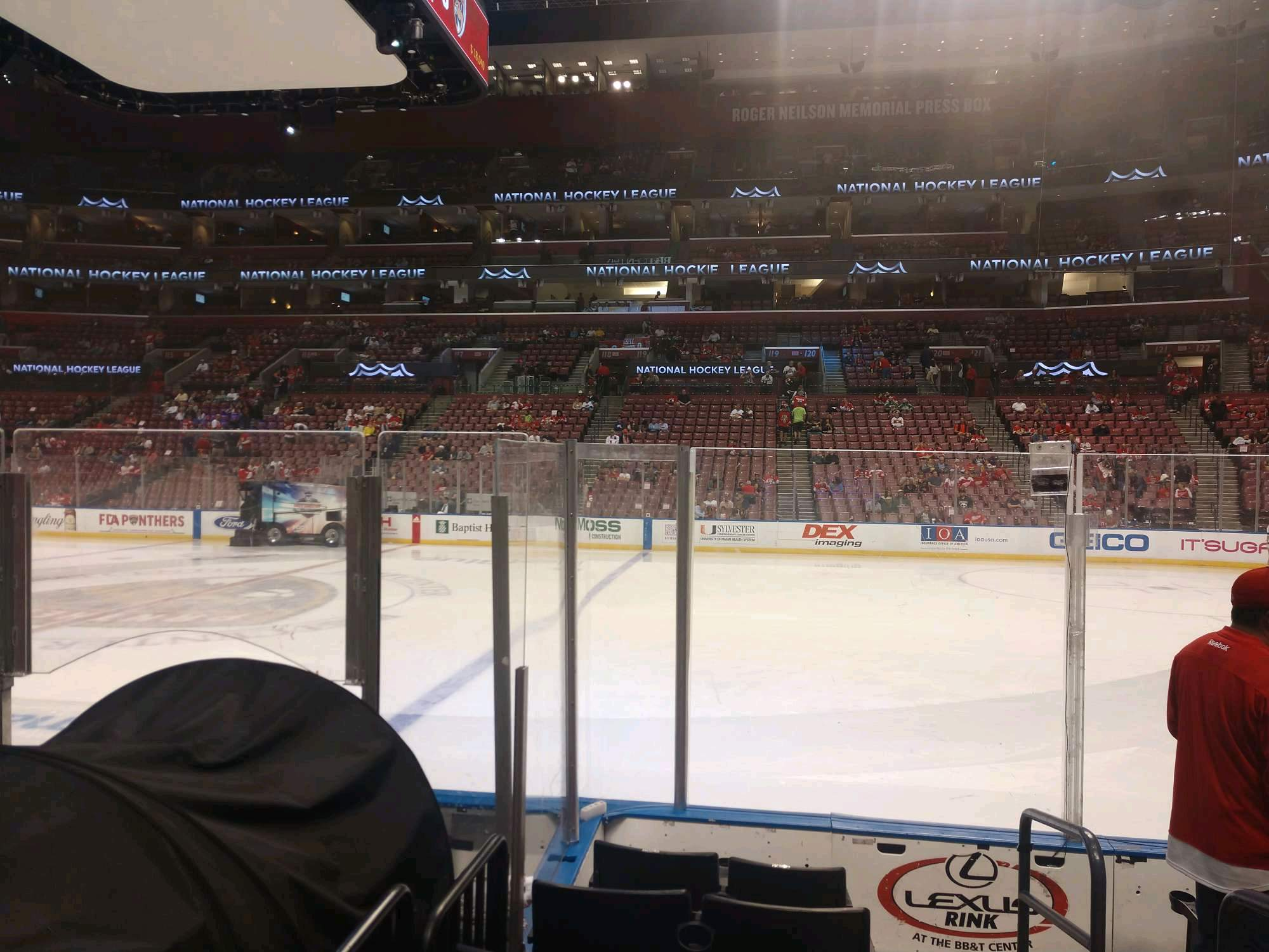 BB&T Center Section 134 Row 6 Seat 1