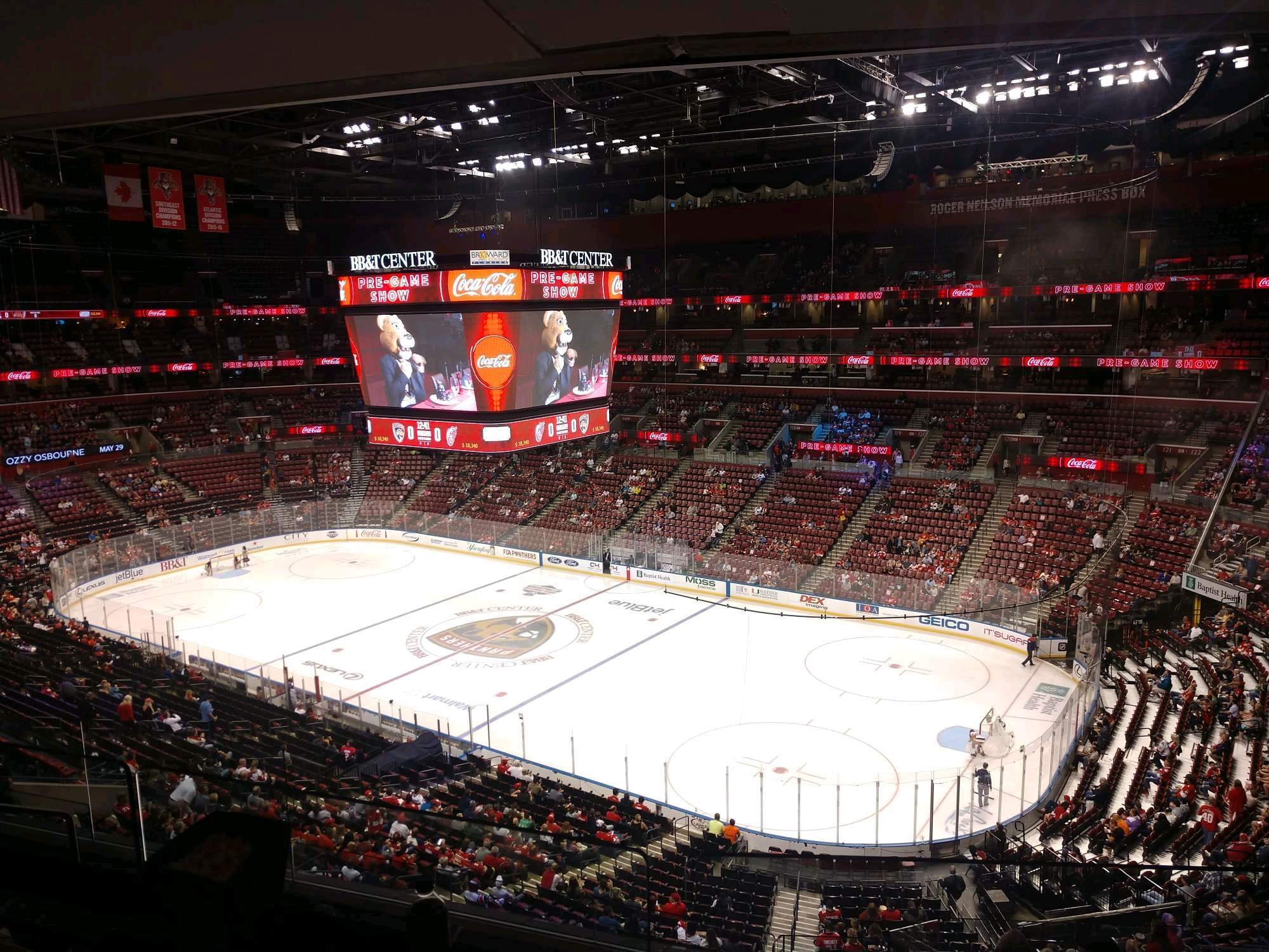 BB&T Center Section CL32 Row 8 Seat 14