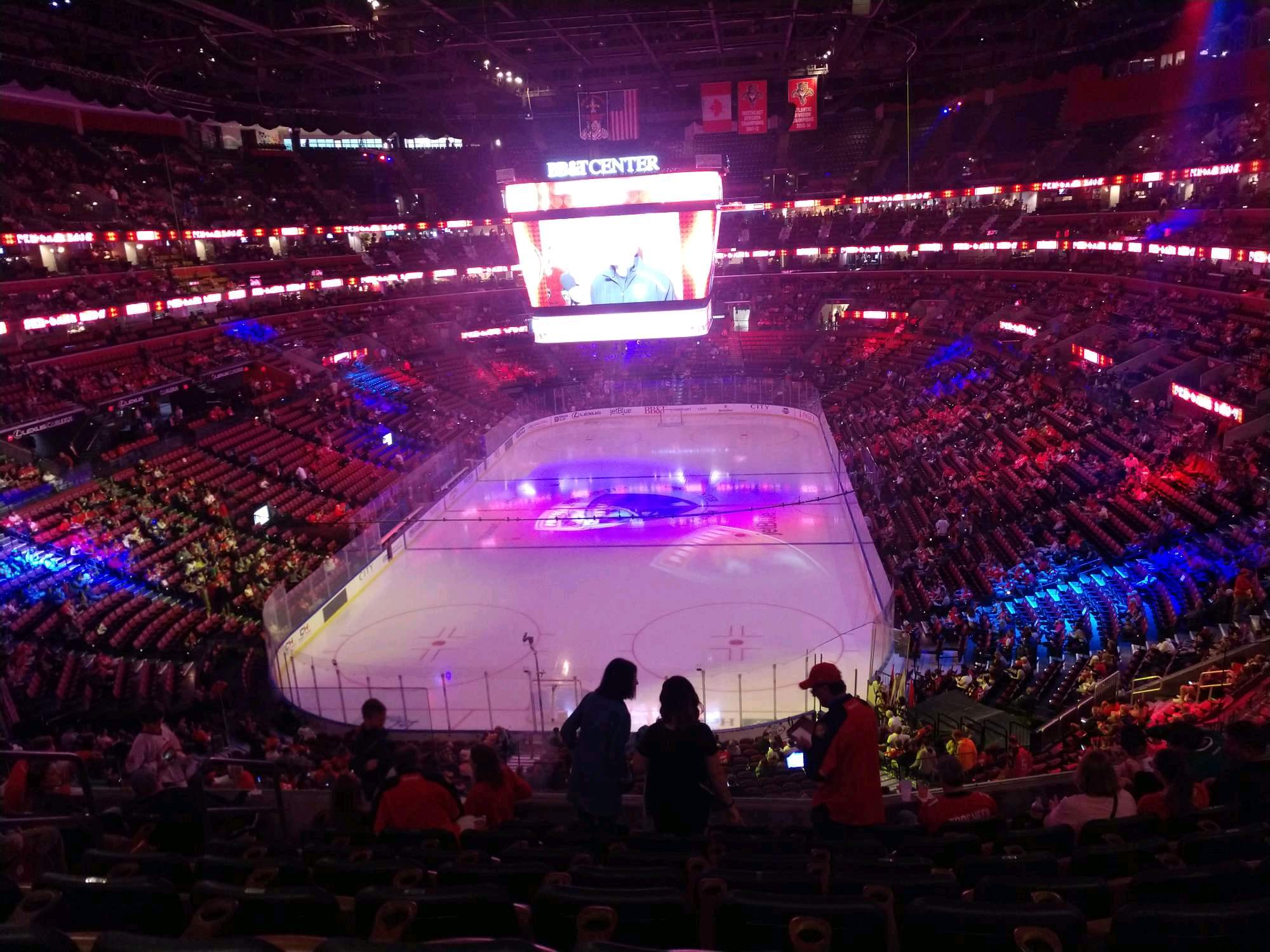 BB&T Center Section CL26 Row 8 Seat 11