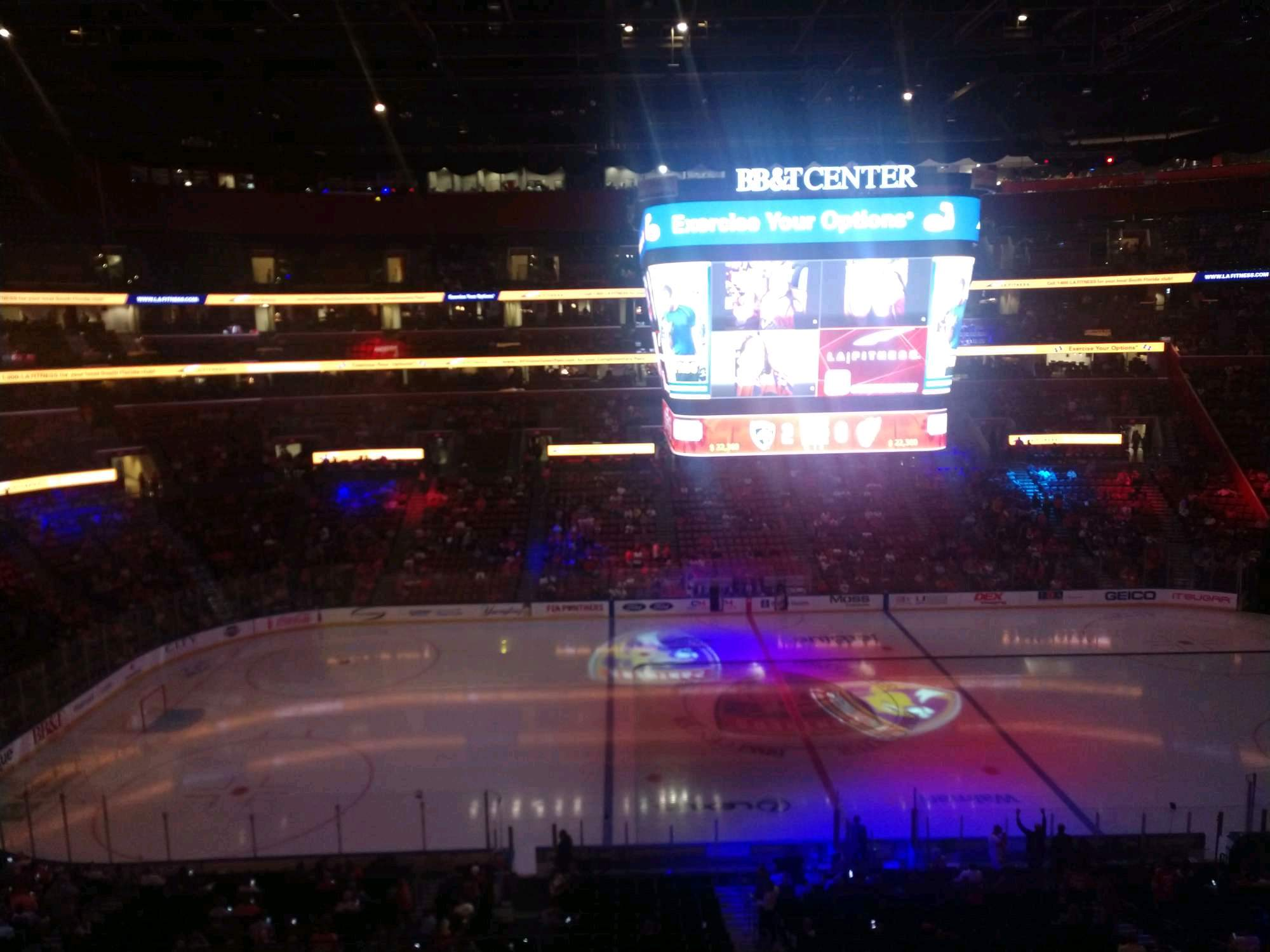 BB&T Center Section CL02 Row 3 Seat 1
