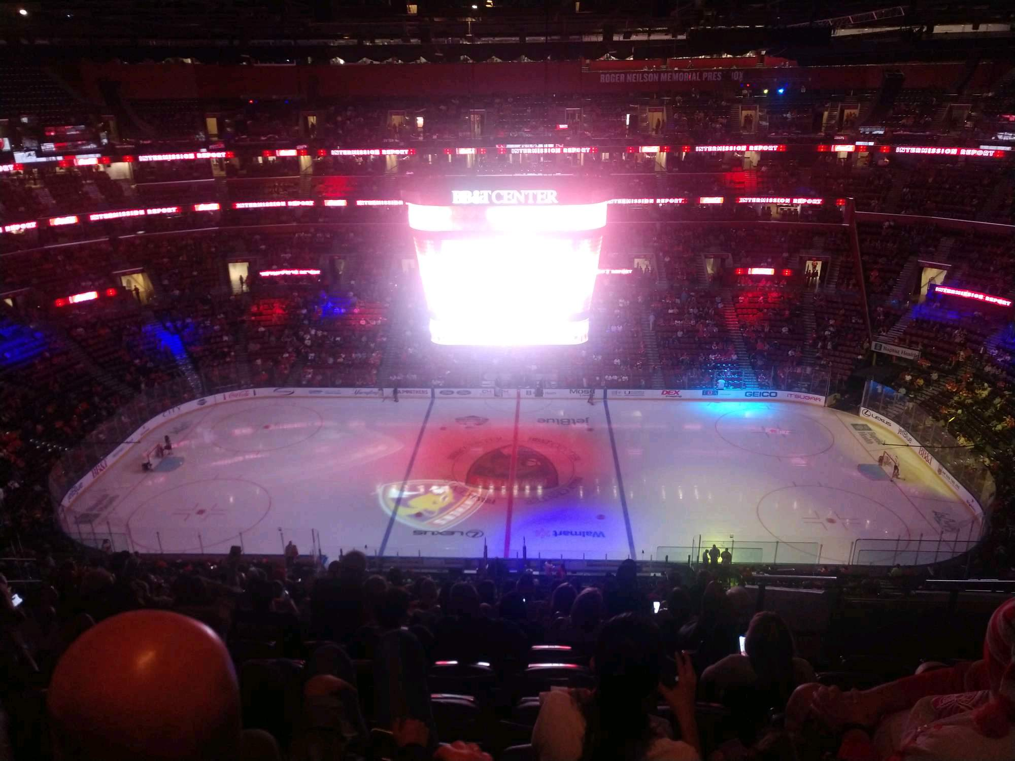 BB&T Center Section 301 Row 13 Seat 6