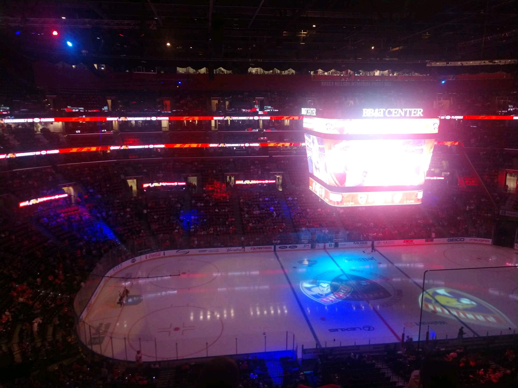 BB&T Center Section 303 Row 3 Seat 4