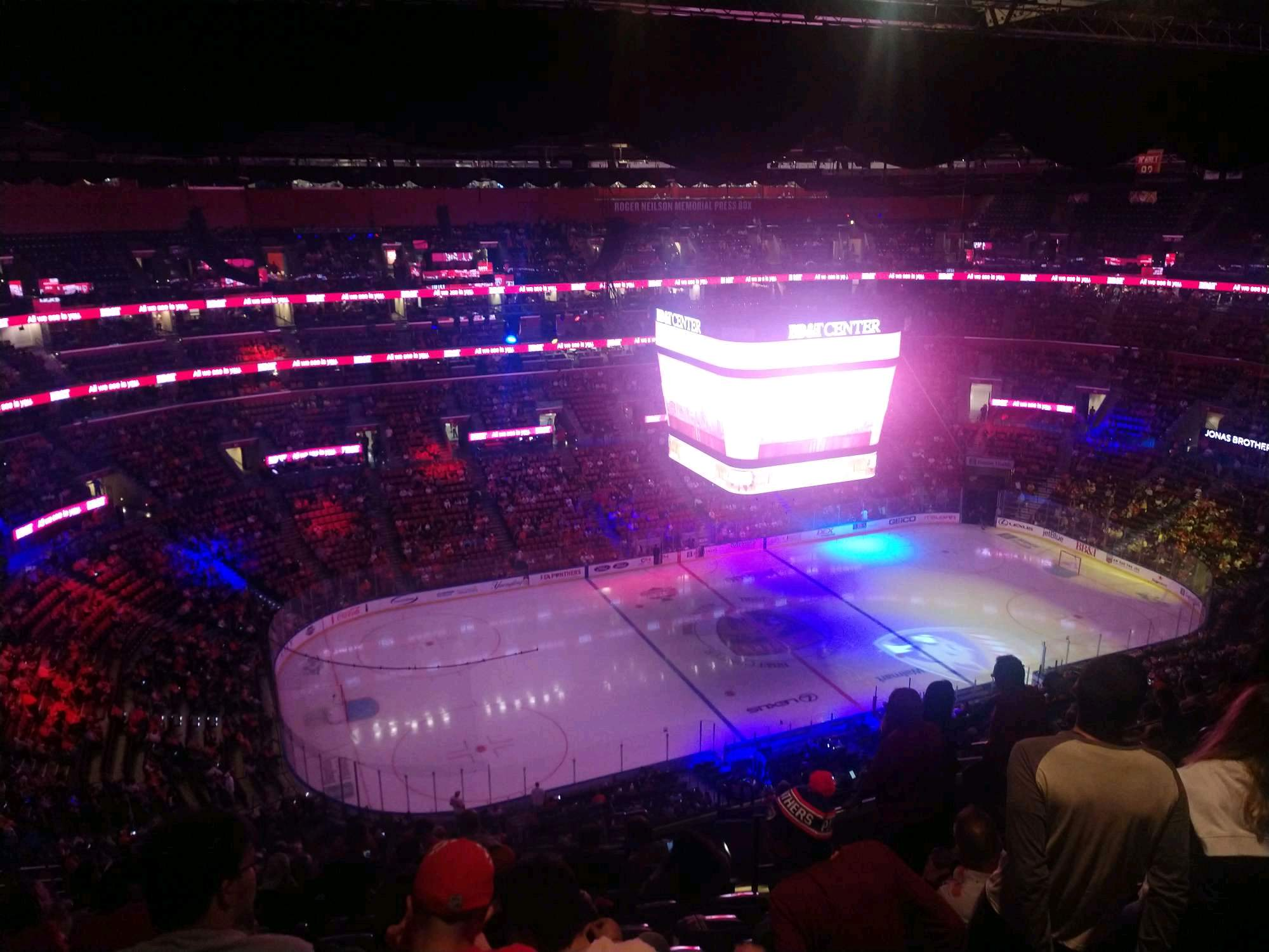 BB&T Center Section 304 Row 14 Seat 8