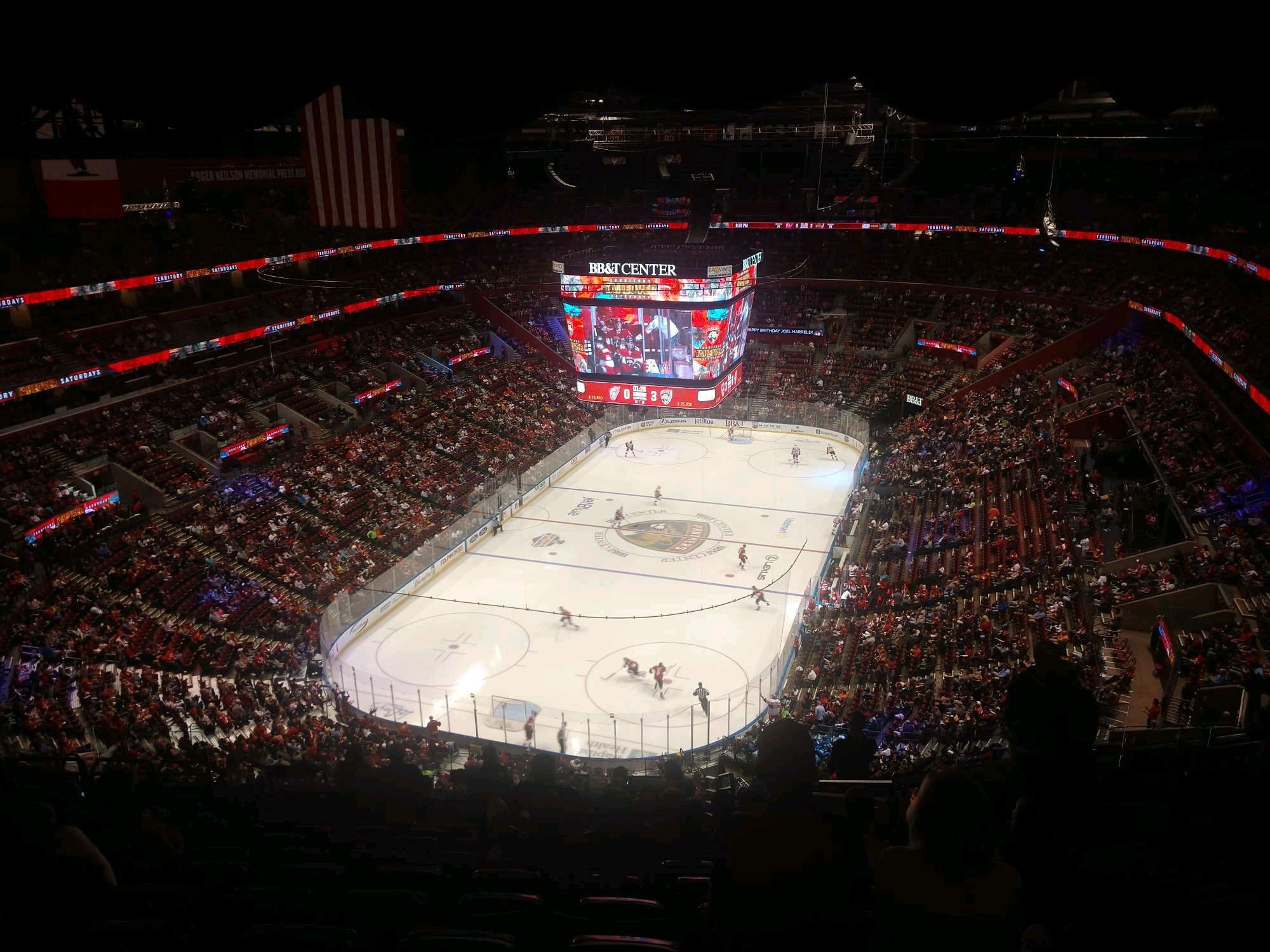BB&T Center Section 308 Row 14 Seat 5