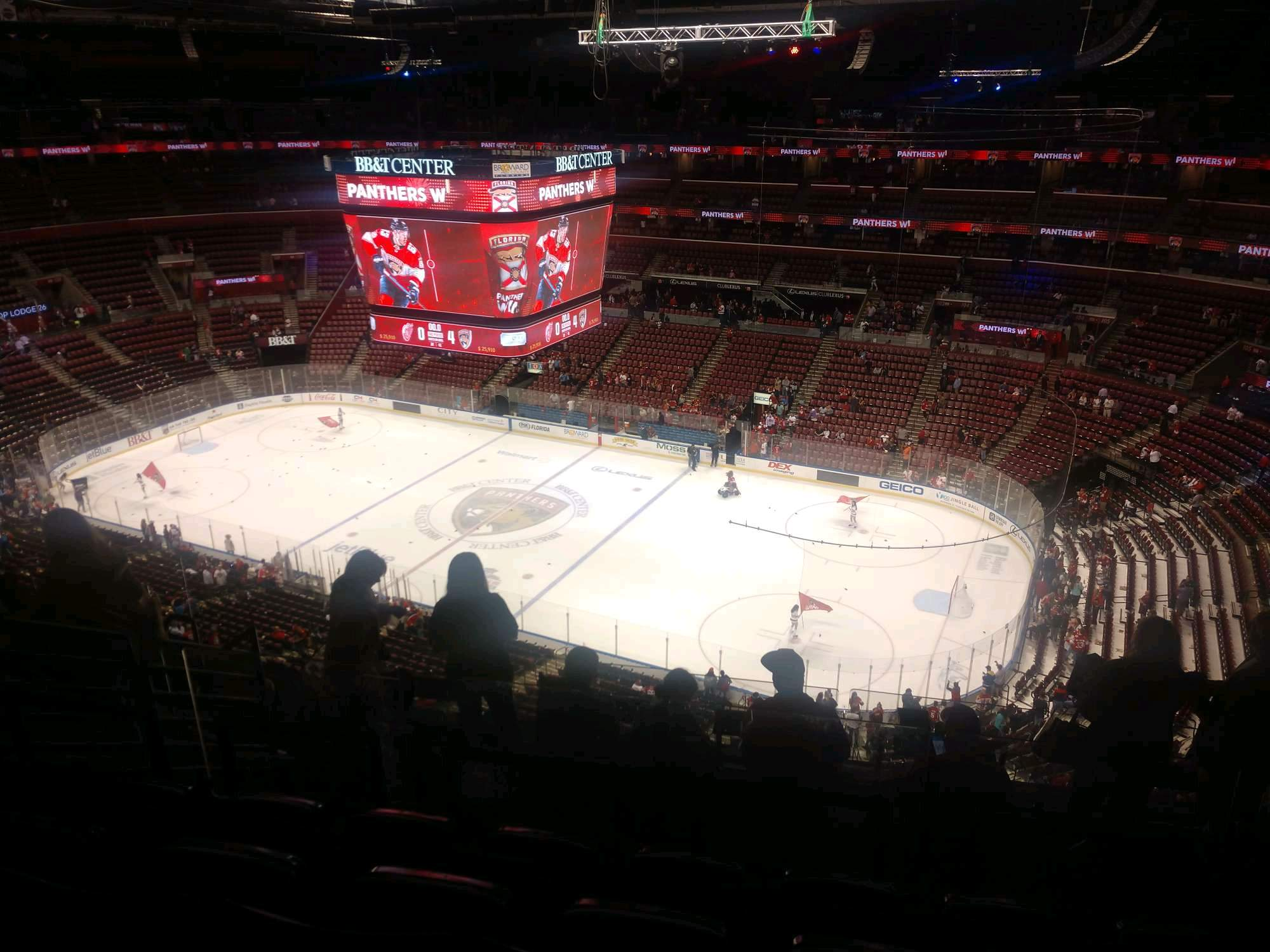 BB&T Center Section 315 Row 8 Seat 10
