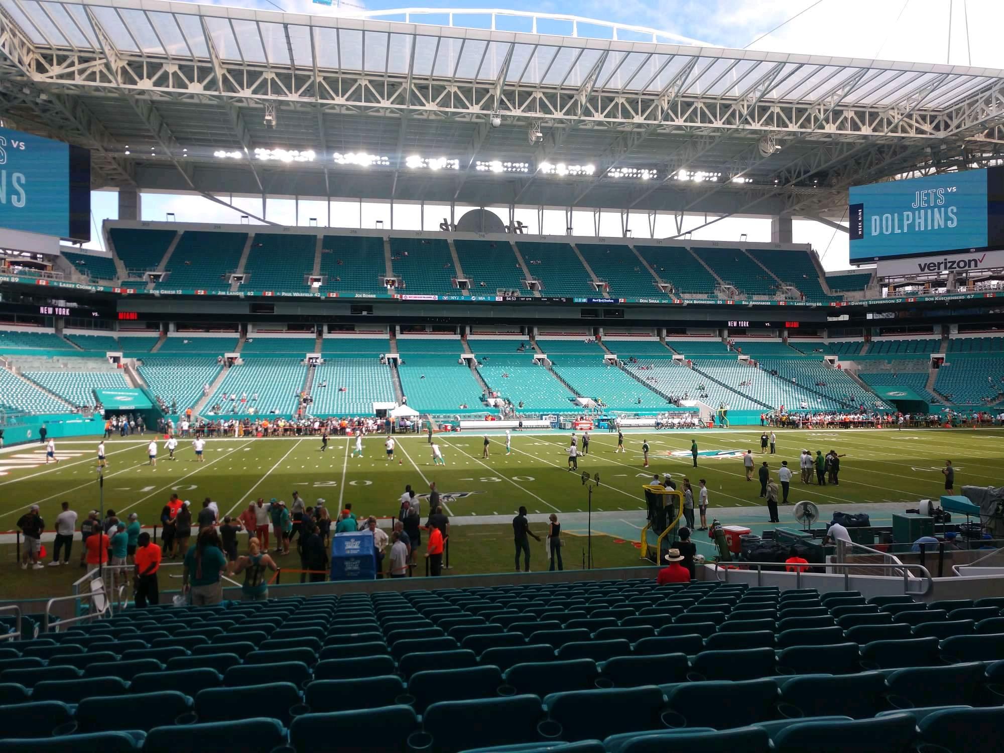 Hard Rock Stadium Section 148 Row 17 Seat 18