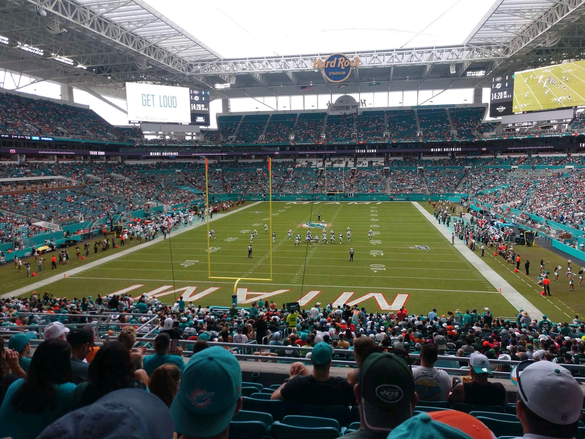 Hard Rock Stadium Section 231 Row 7 Seat 17