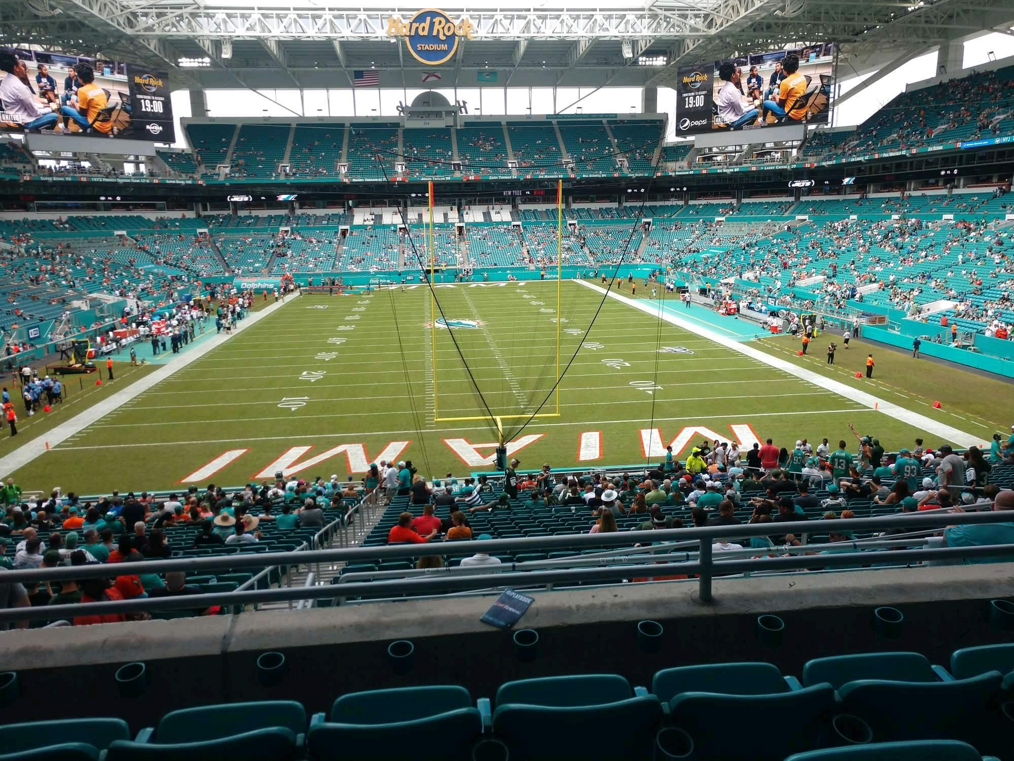 Hard Rock Stadium Section 232 Row 4 Seat 21