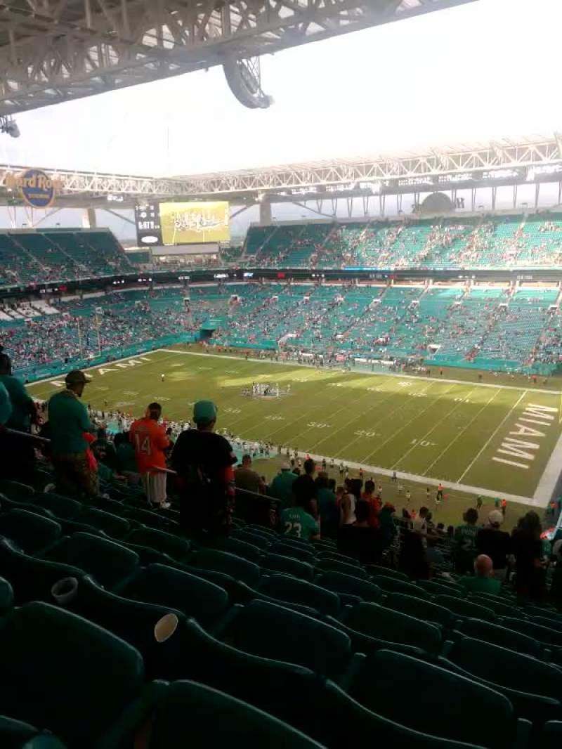 Hard Rock Stadium Section 341 Row 25 Seat 15