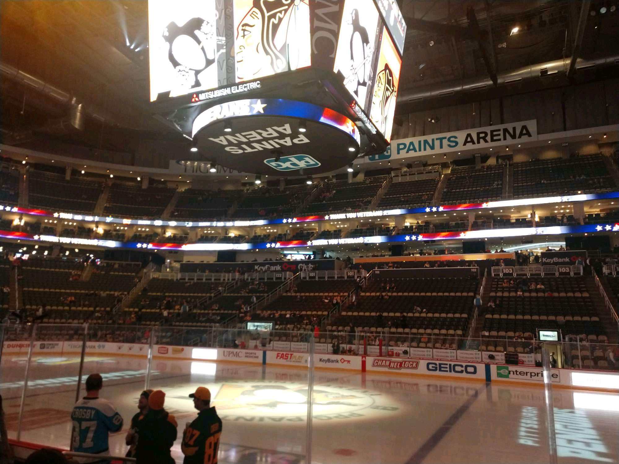 PPG Paints Arena Section 111 Row F Seat 8