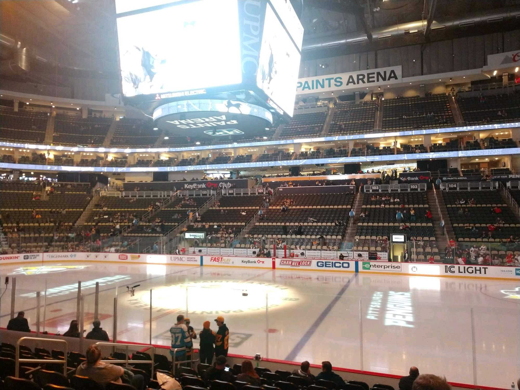 PPG Paints Arena Section 111 Row M Seat 6