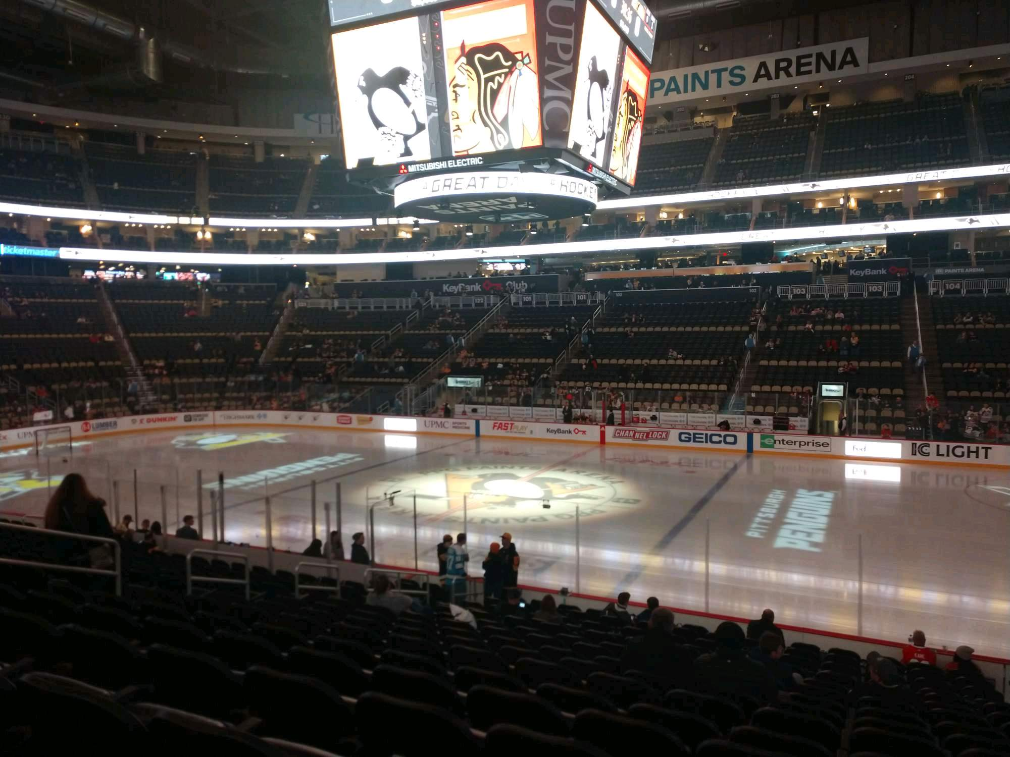 PPG Paints Arena Section 111 Row R Seat 3