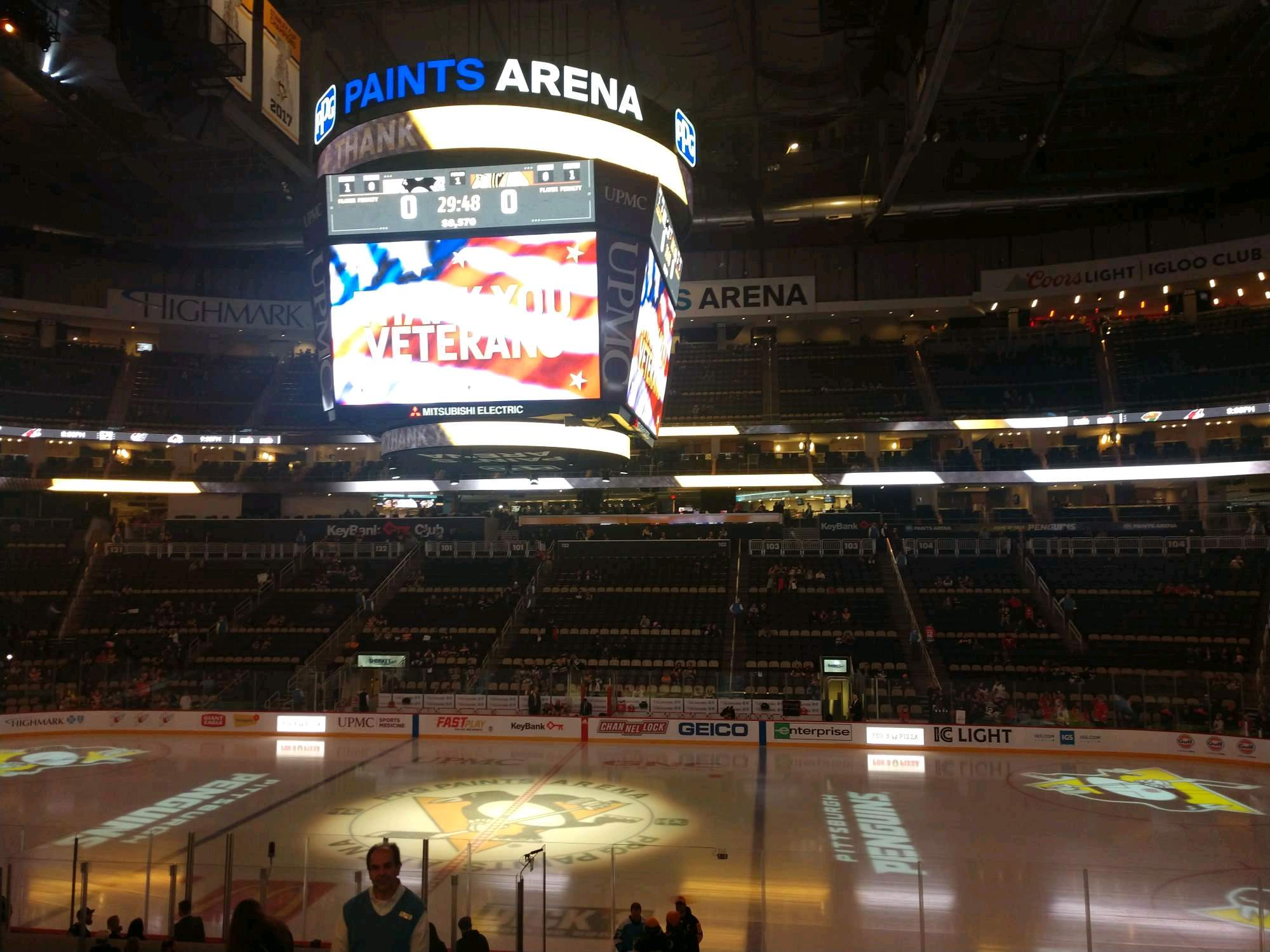 PPG Paints Arena Section 111 Row U Seat 12