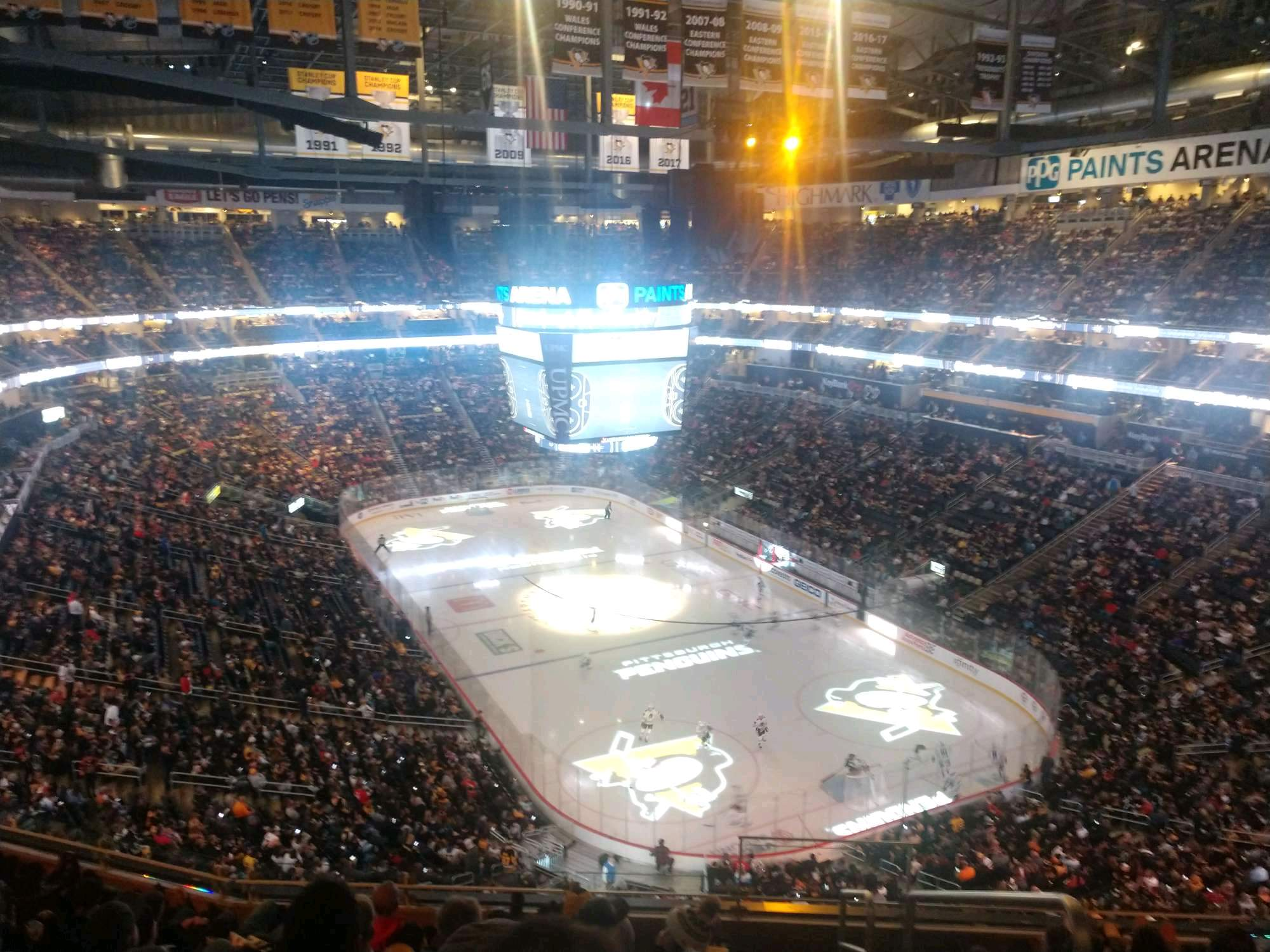 PPG Paints Arena Section 214 Row H Seat 1