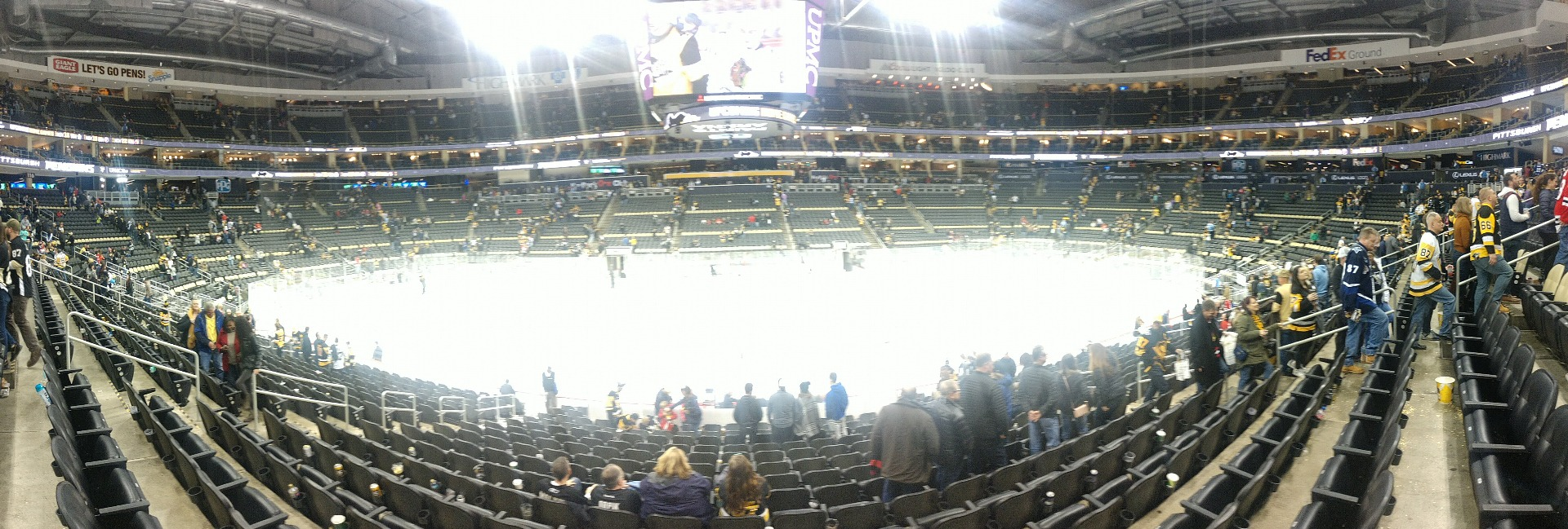 PPG Paints Arena Section 112 Row R Seat 11