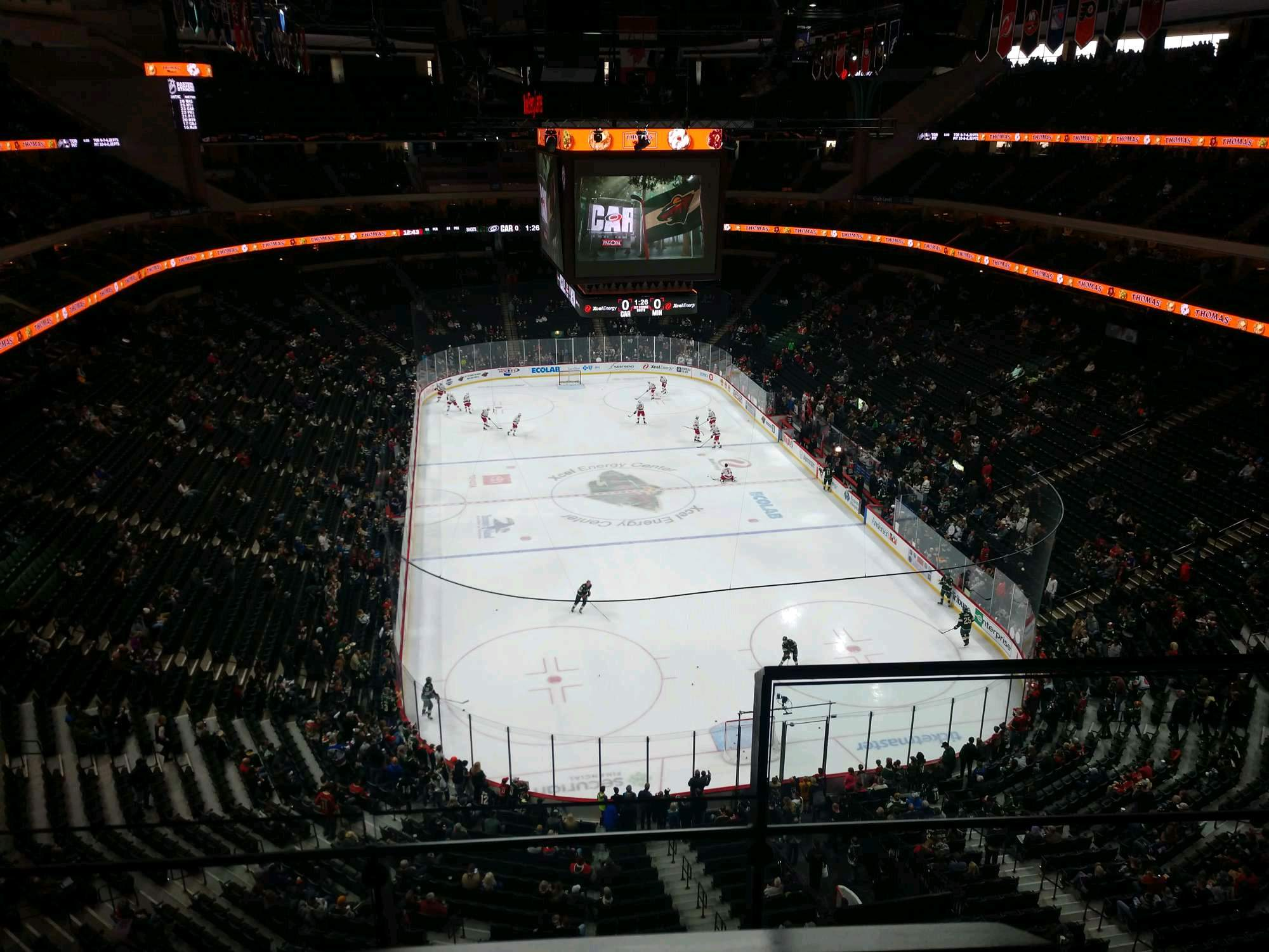Xcel Energy Center Section 228 Row 2 Seat 1