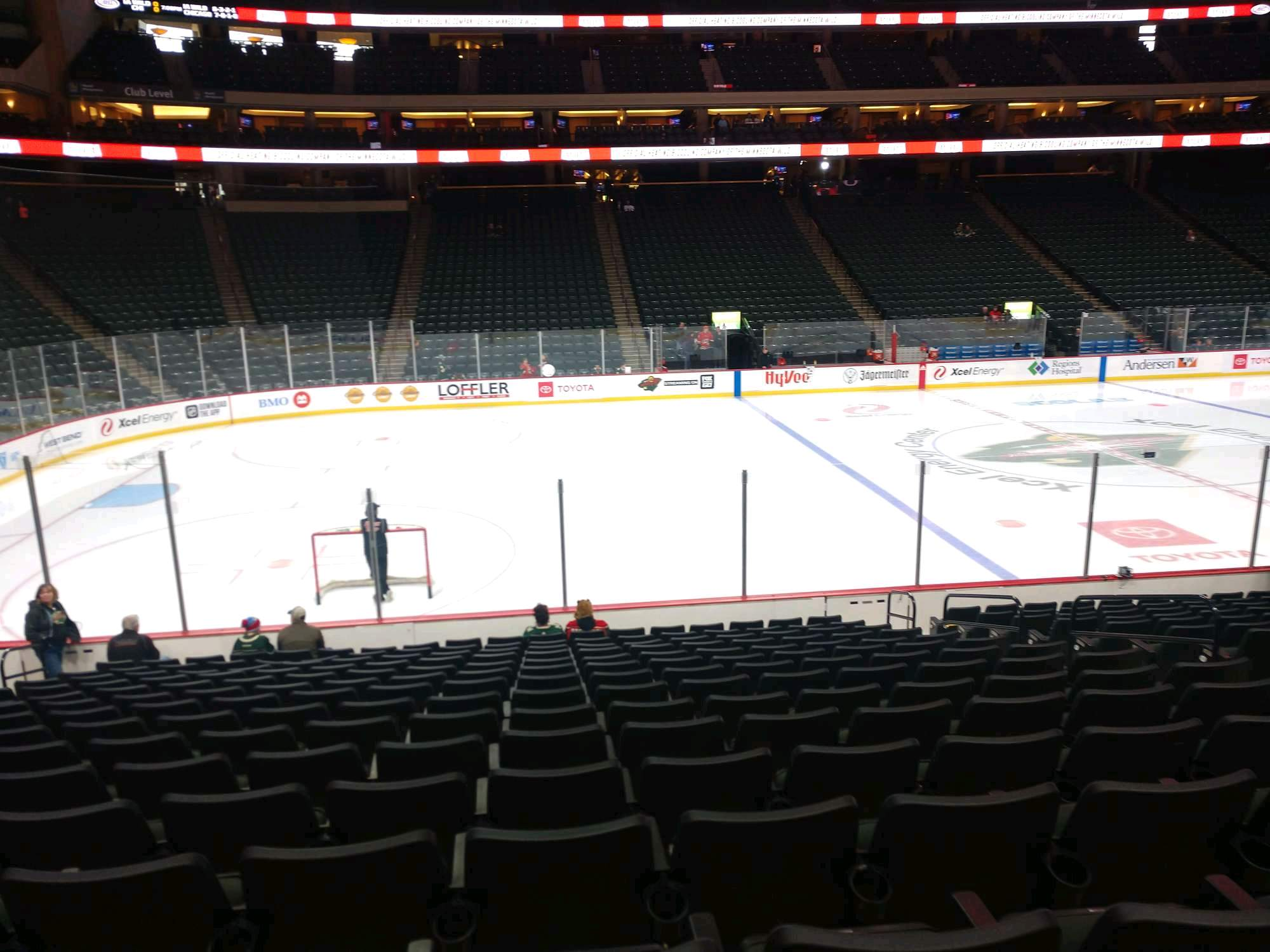 Xcel Energy Center Section 105 Row 15 Seat 8