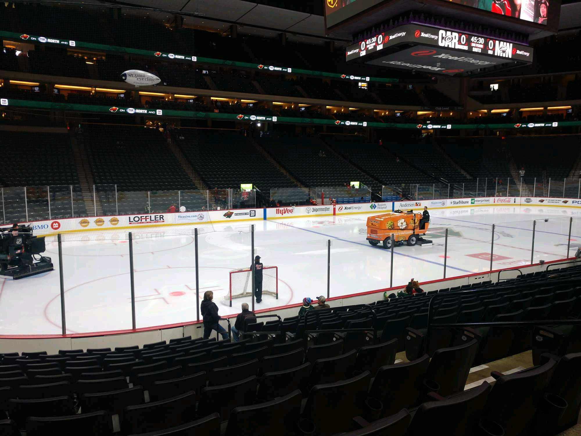 Xcel Energy Center Section 106 Row 13 Seat 6