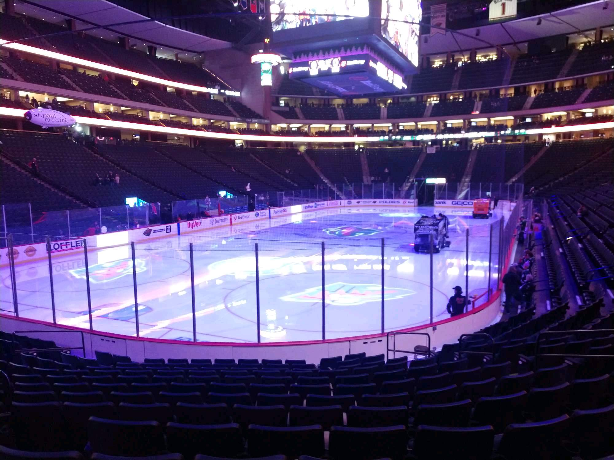 Xcel Energy Center Section 108 Row 13 Seat 10