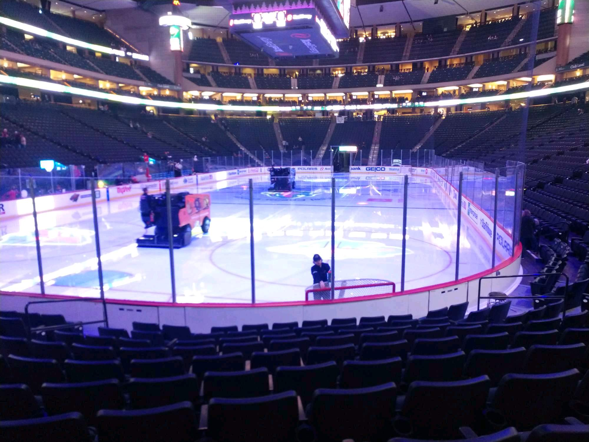 Xcel Energy Center Section 109 Row 10 Seat 2