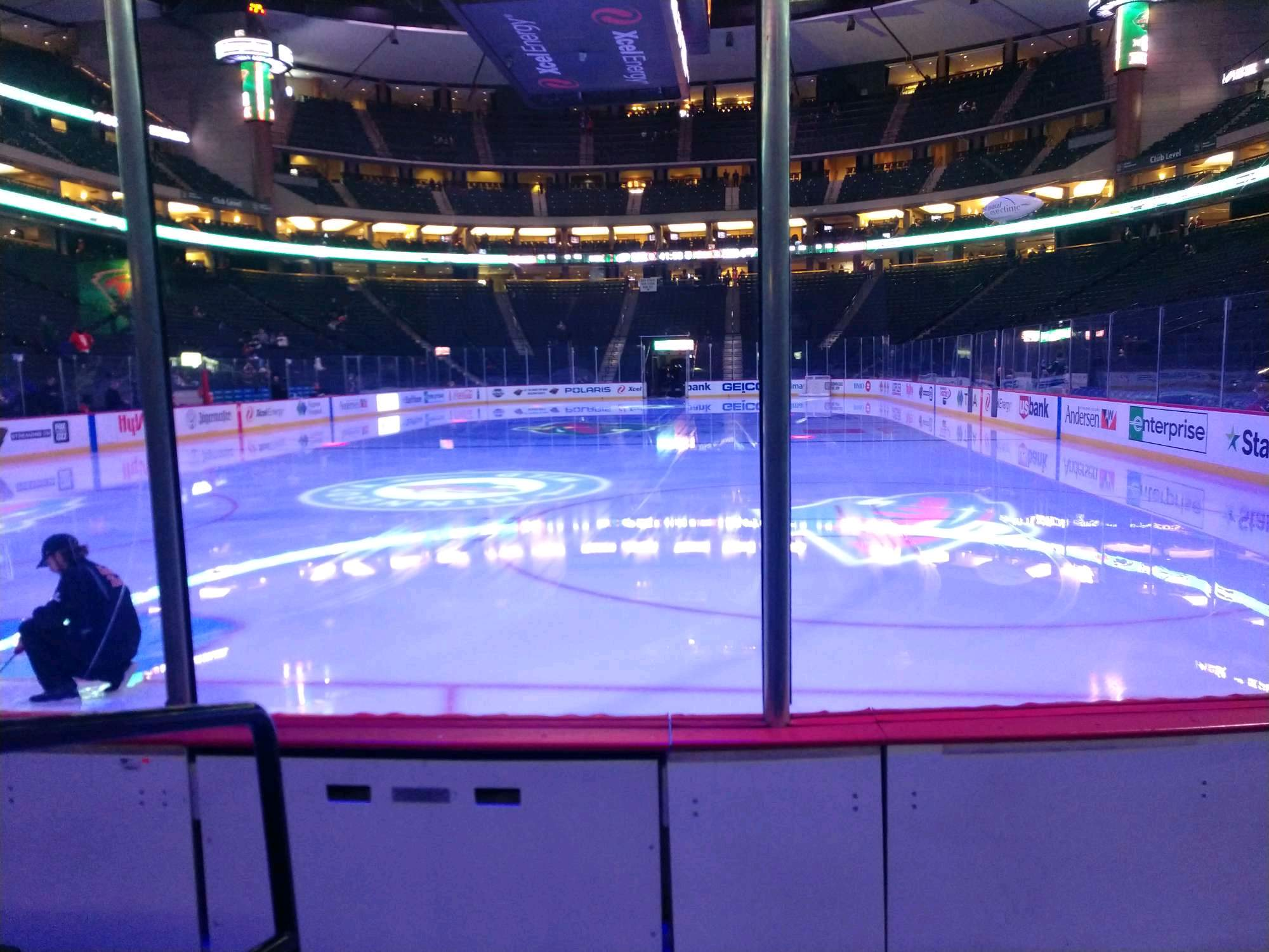 Xcel Energy Center Section 109 Row 3 Seat 7