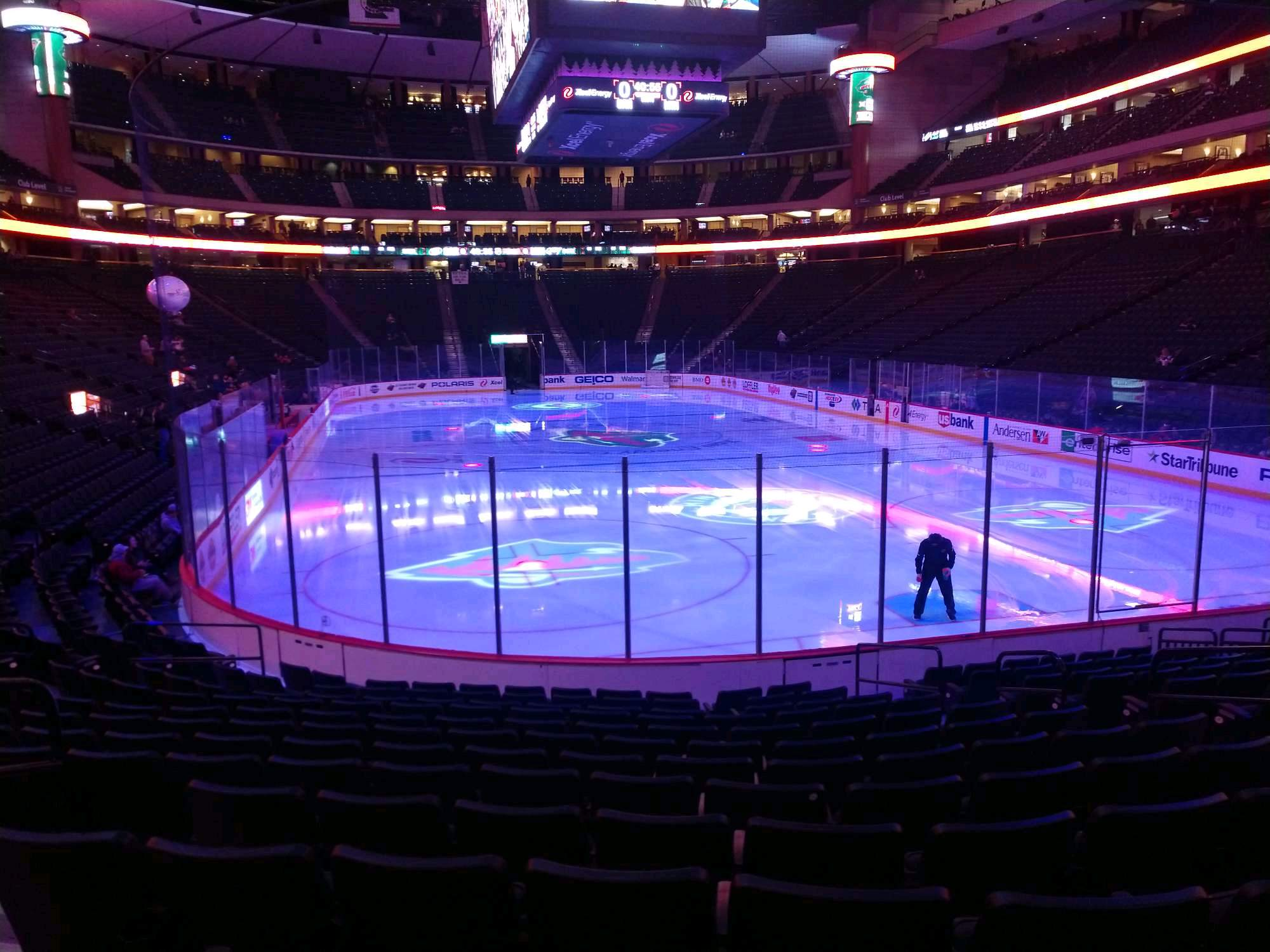 Xcel Energy Center Section 111 Row 13 Seat 9