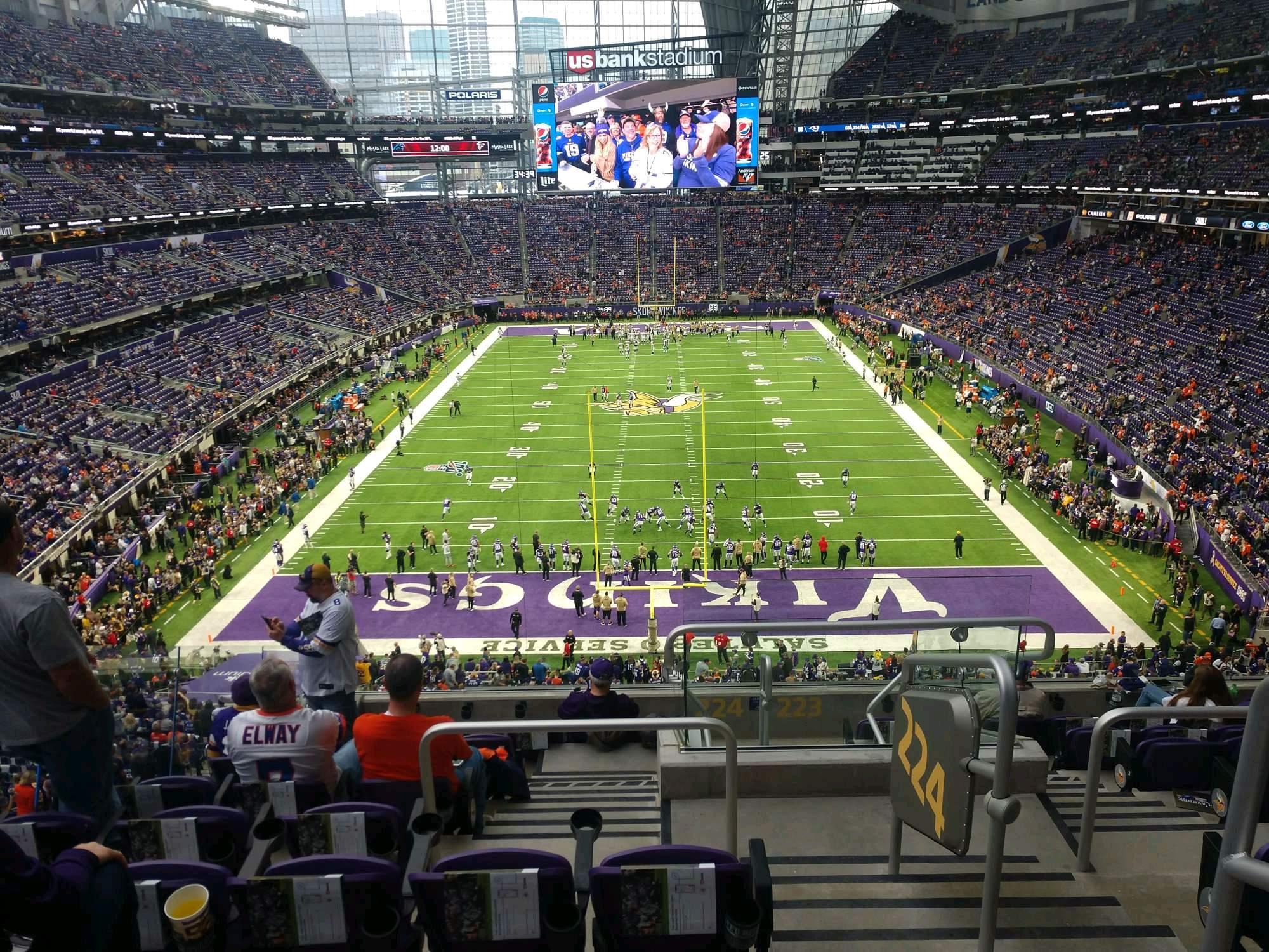 U.S. Bank Stadium Section 224 Row 9 Seat 1