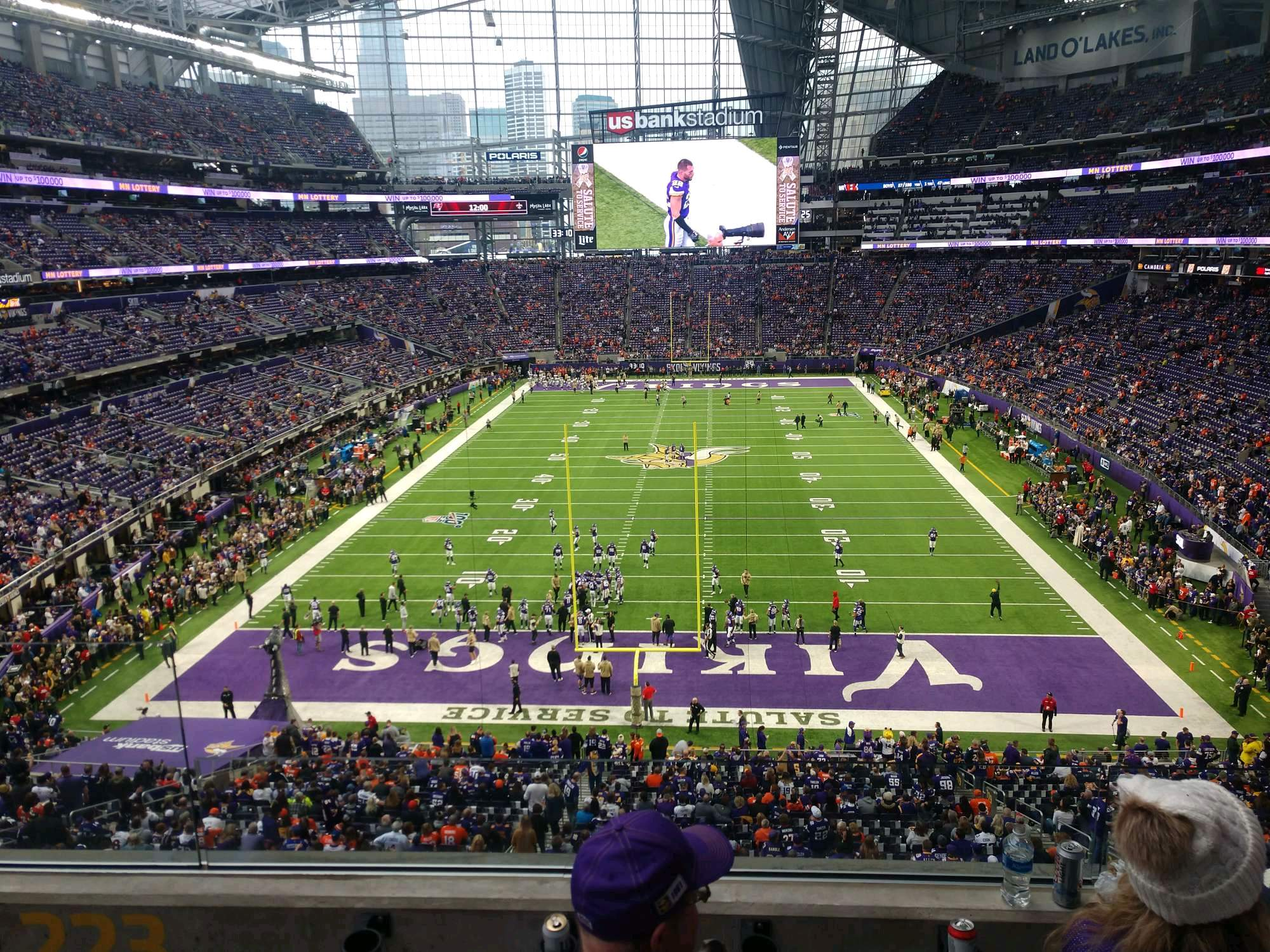 U.S. Bank Stadium Section 223 Row 3 Seat 12