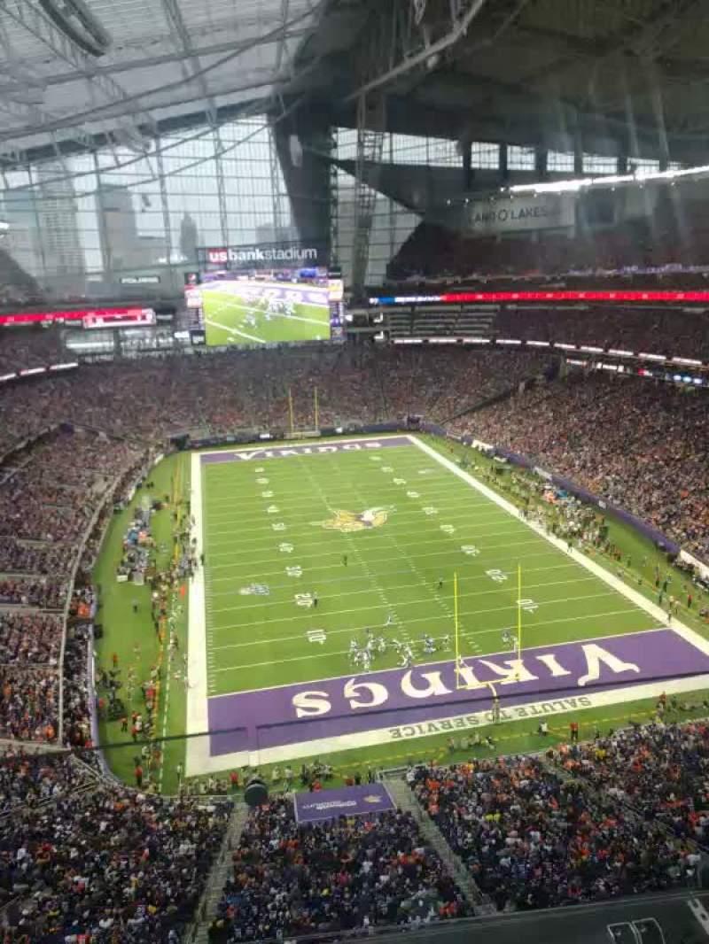 U.S. Bank Stadium Section 328 Row 2 Seat 18