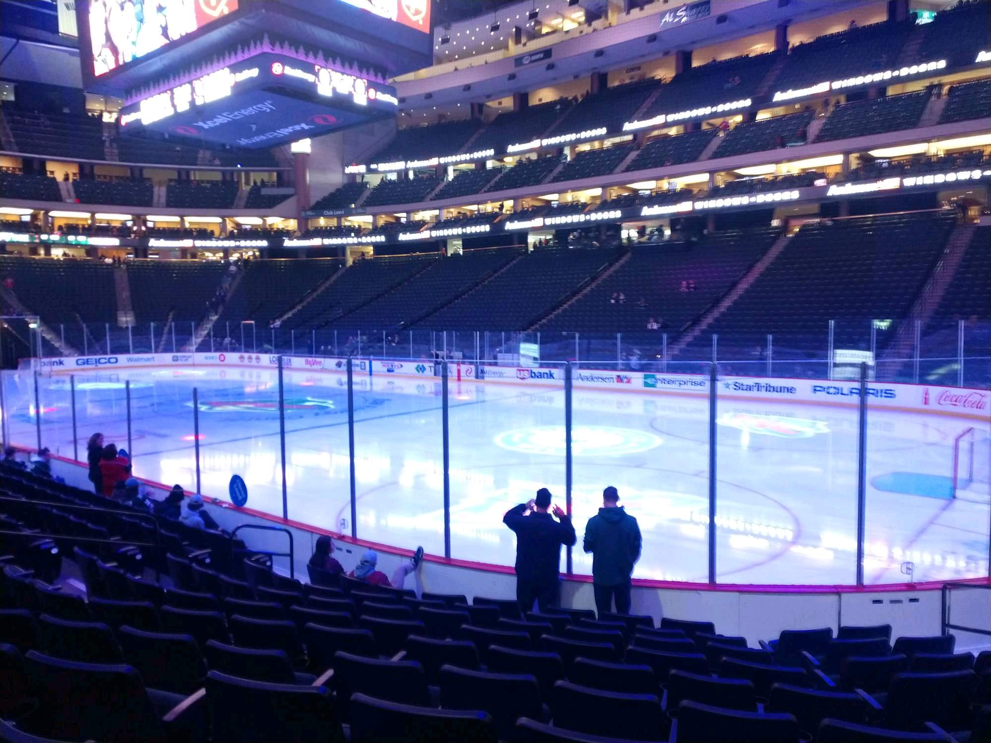 Xcel Energy Center Section 113 Row 10 Seat 9