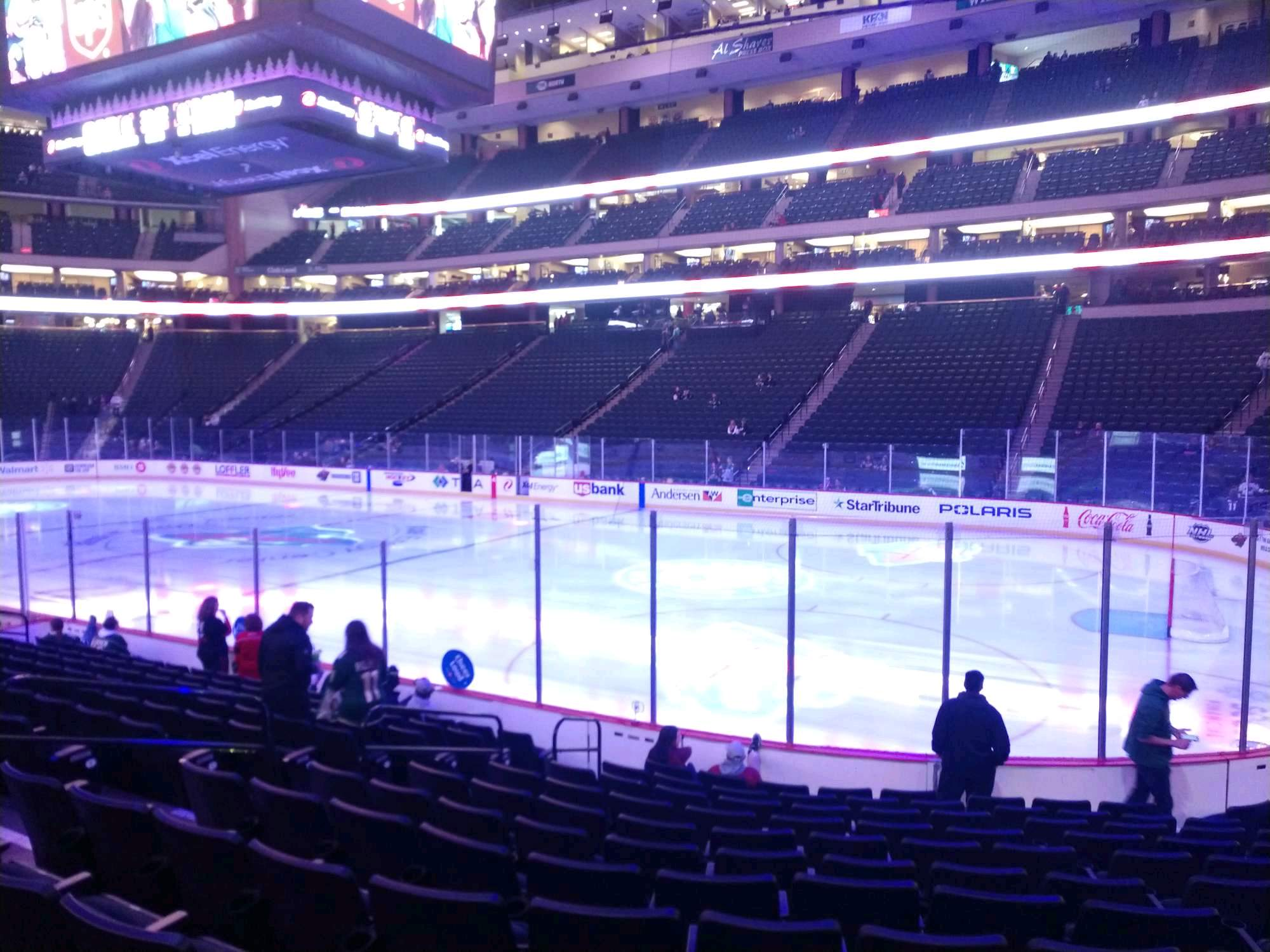 Xcel Energy Center Section 114 Row 12 Seat 4