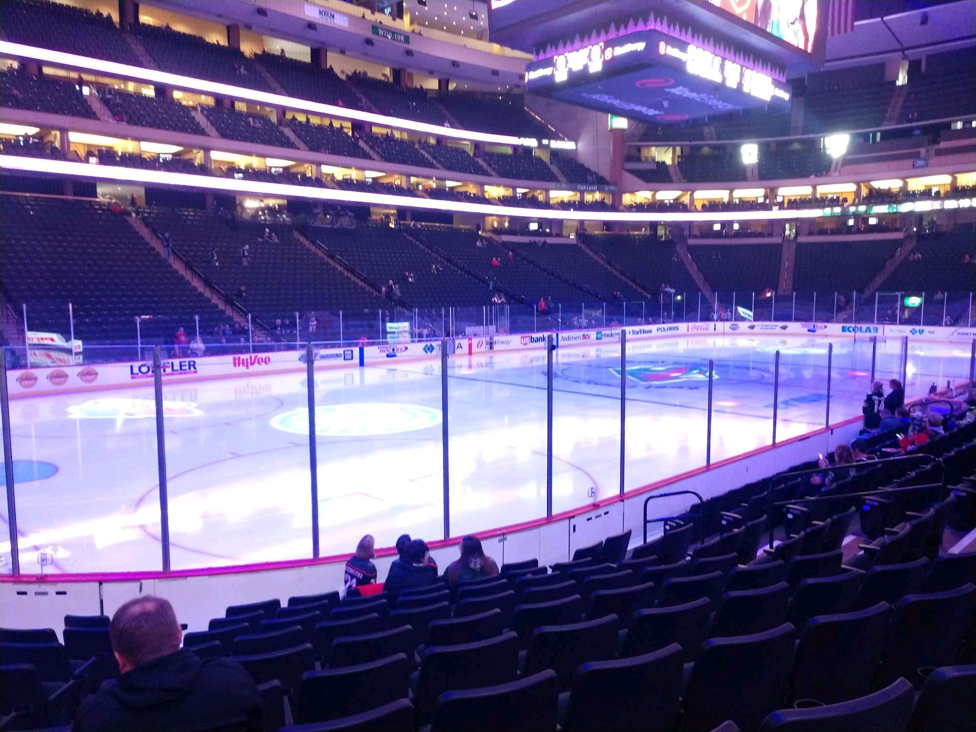 Xcel Energy Center Section 120 Row 10 Seat 3