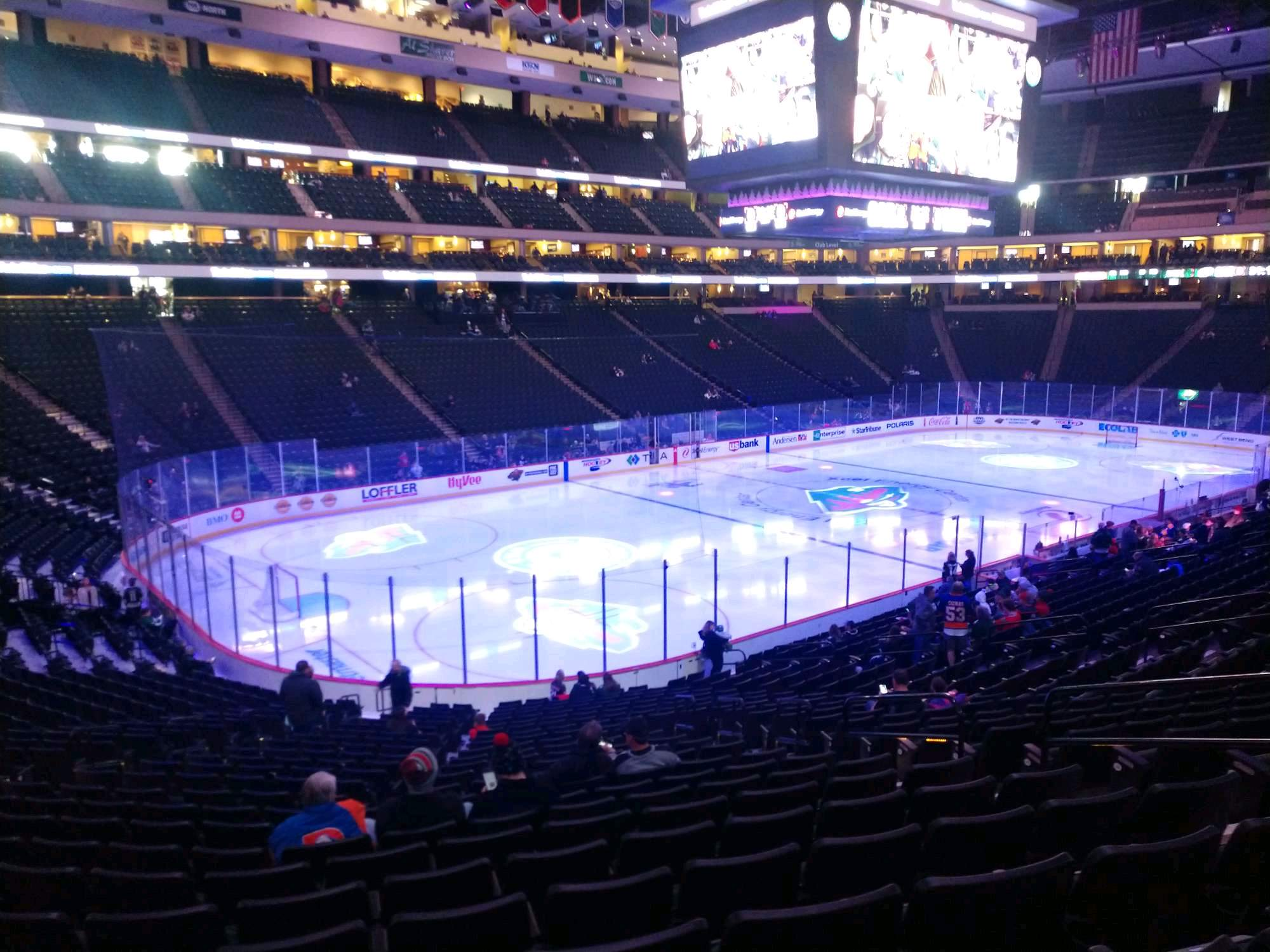 Xcel Energy Center Section 120 Row 24 Seat 7