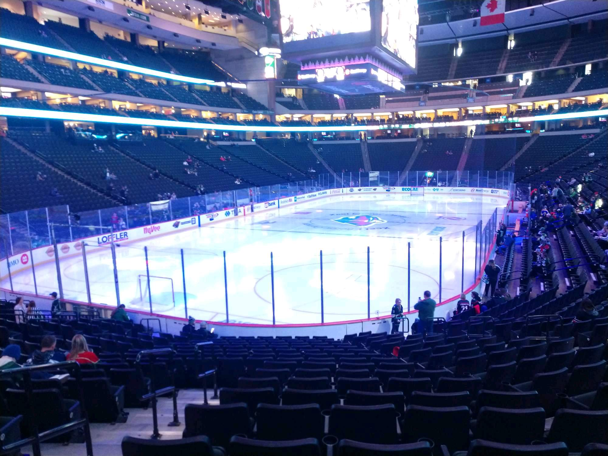 Xcel Energy Center Section 121 Row 17 Seat 14