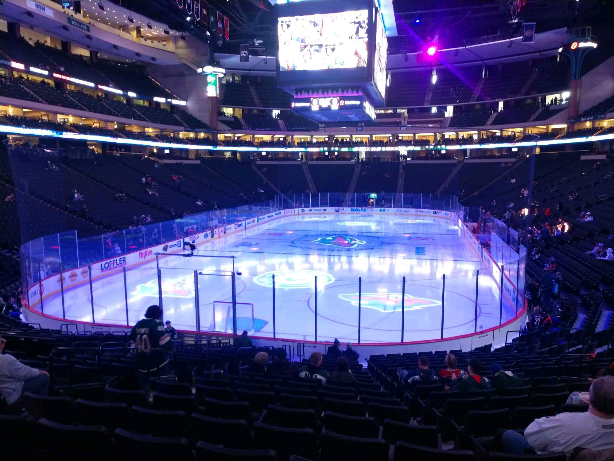 Xcel Energy Center Section 122 Row 19 Seat 11