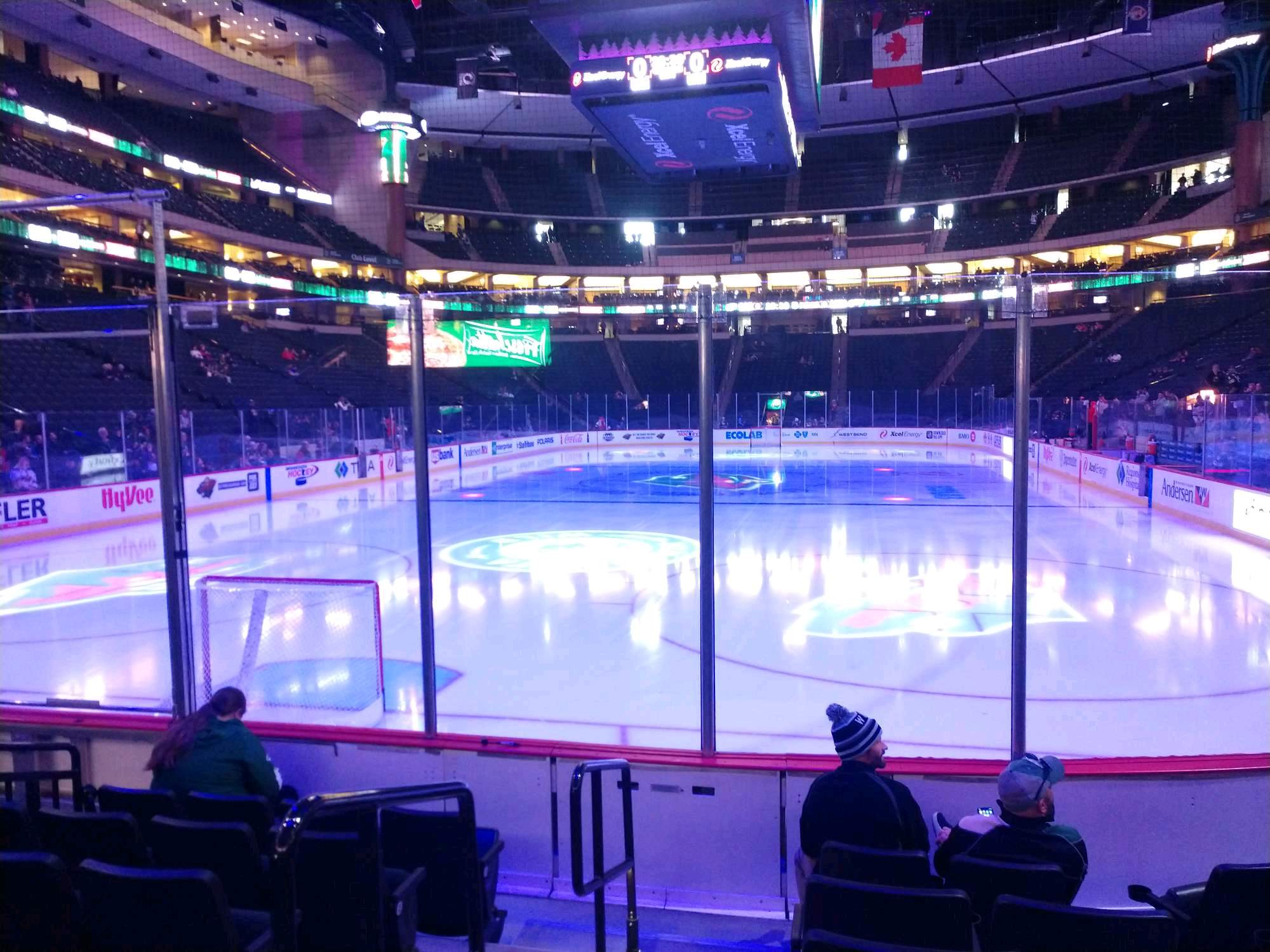 Xcel Energy Center Section 122 Row 6 Seat 8
