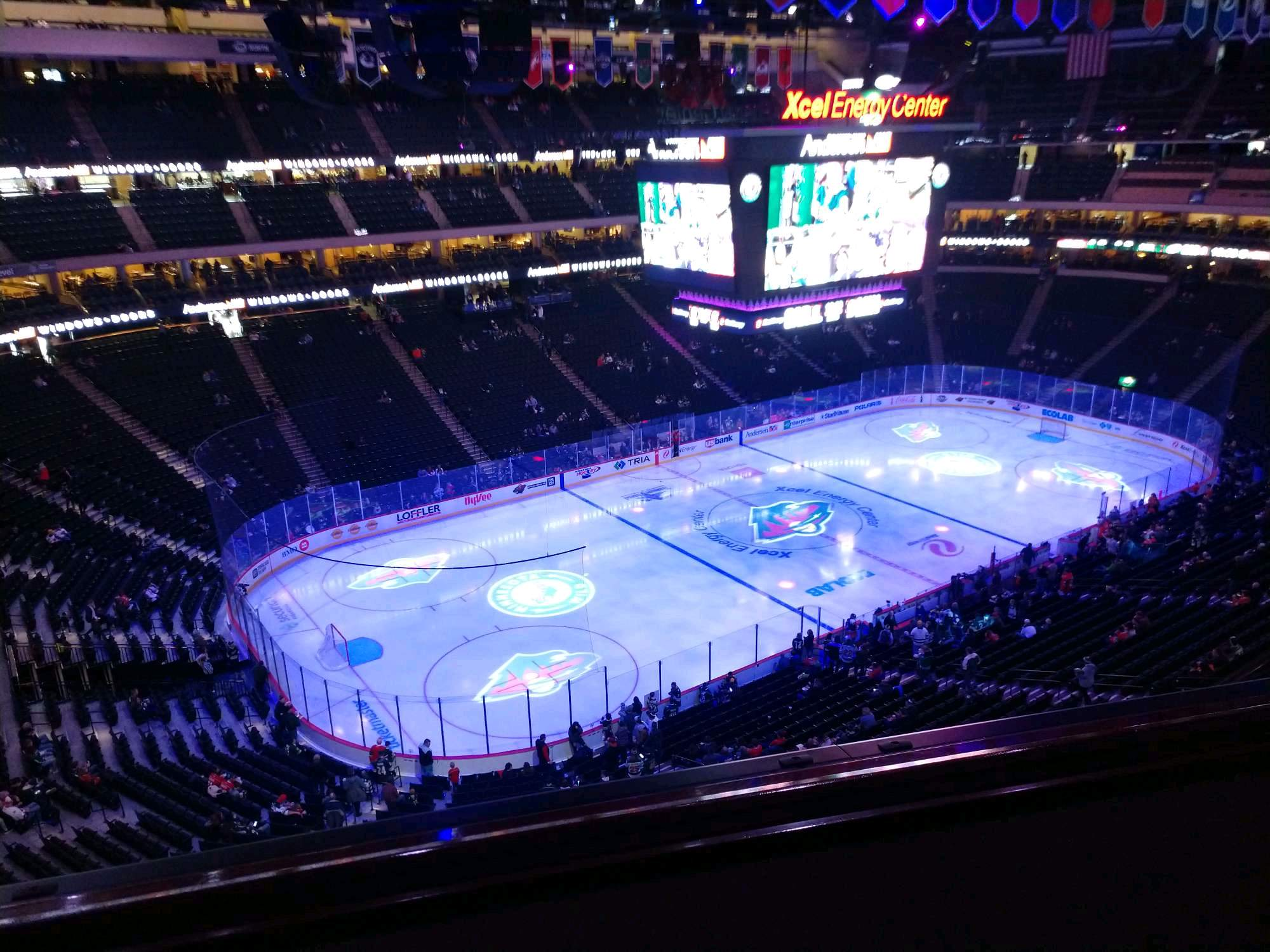 Xcel Energy Center Section 222 Row 2 Seat 23