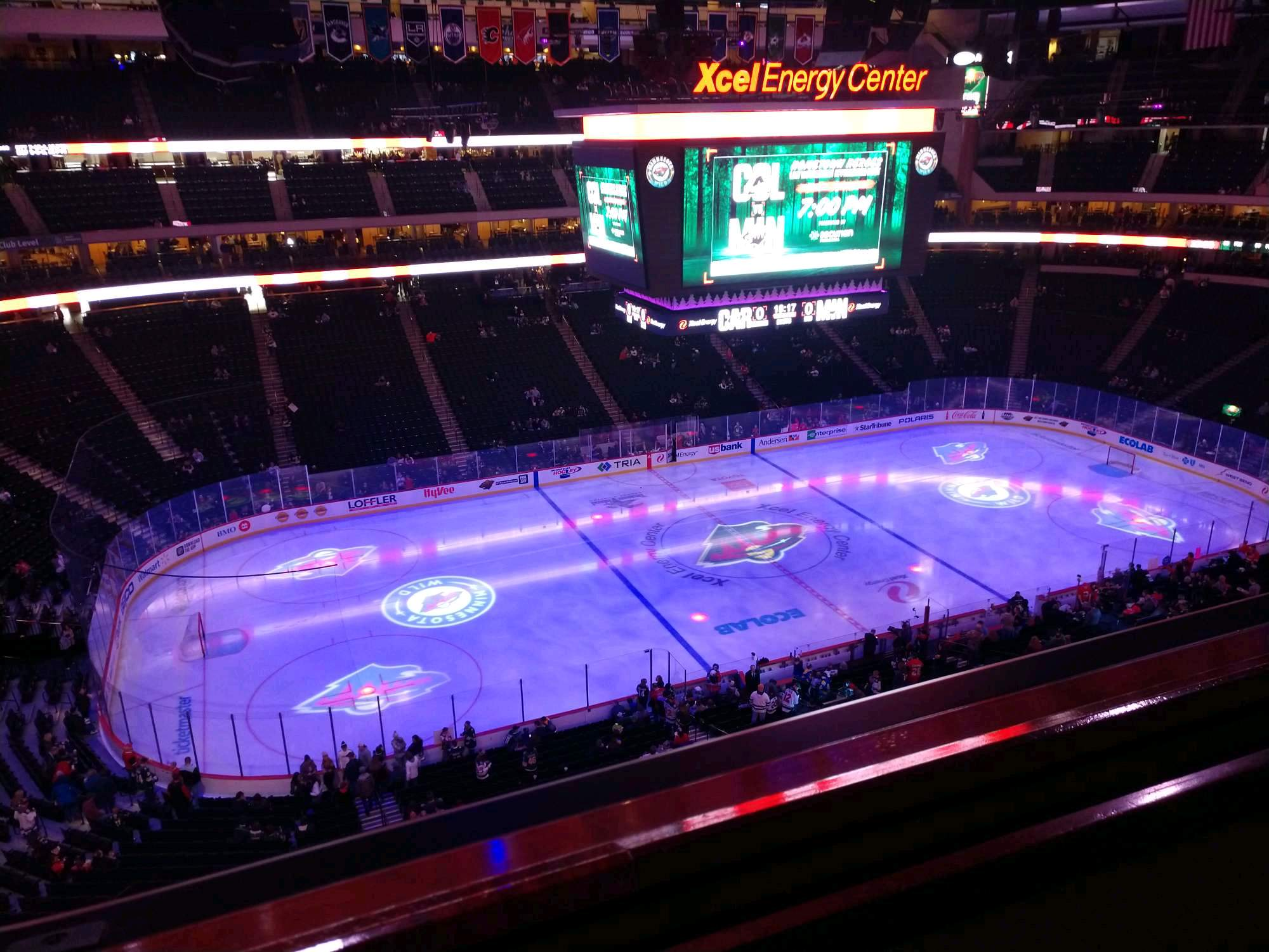 Xcel Energy Center Section 221 Row 1 Seat 15
