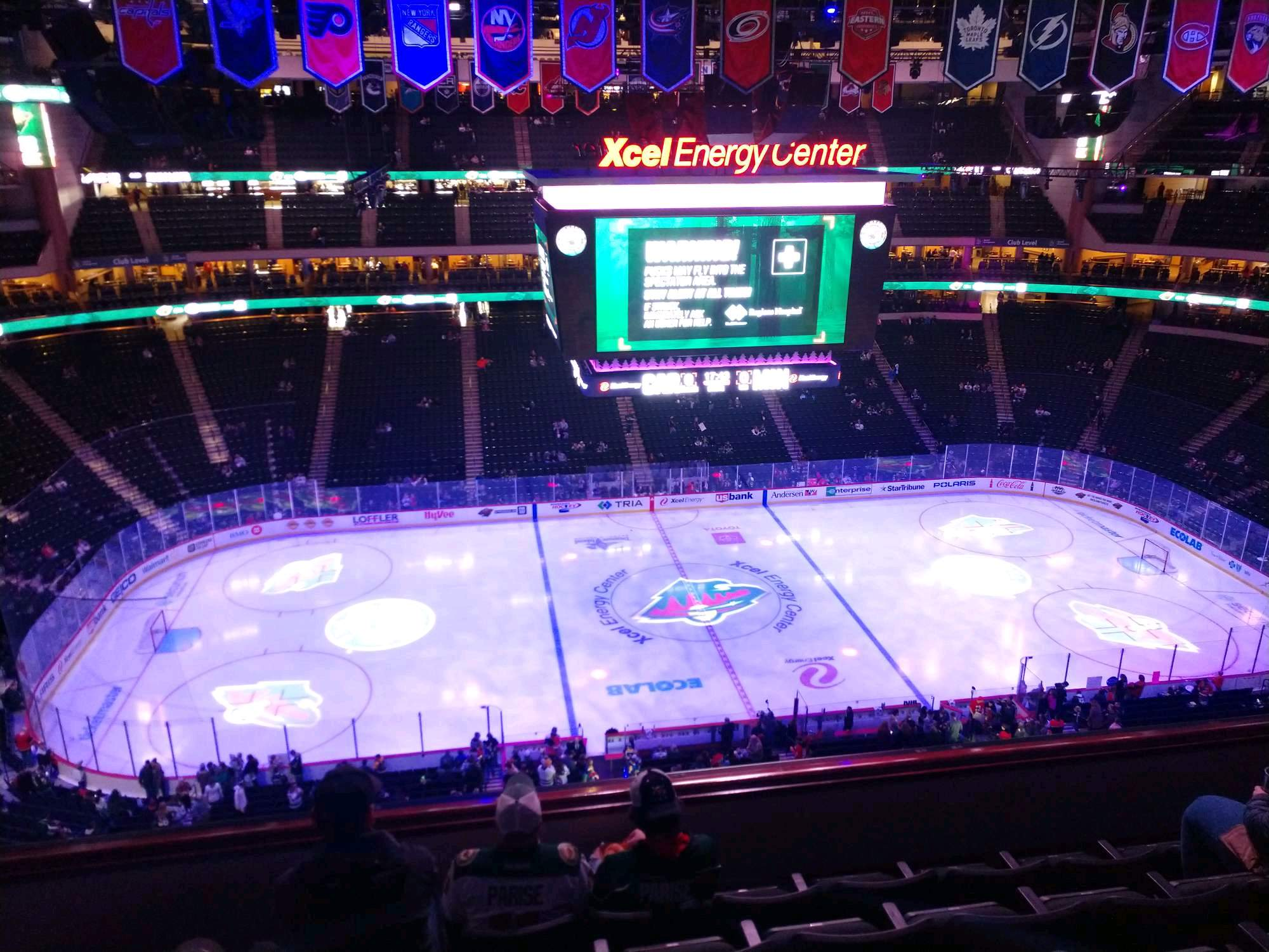 Xcel Energy Center Section 220 Row 5 Seat 10