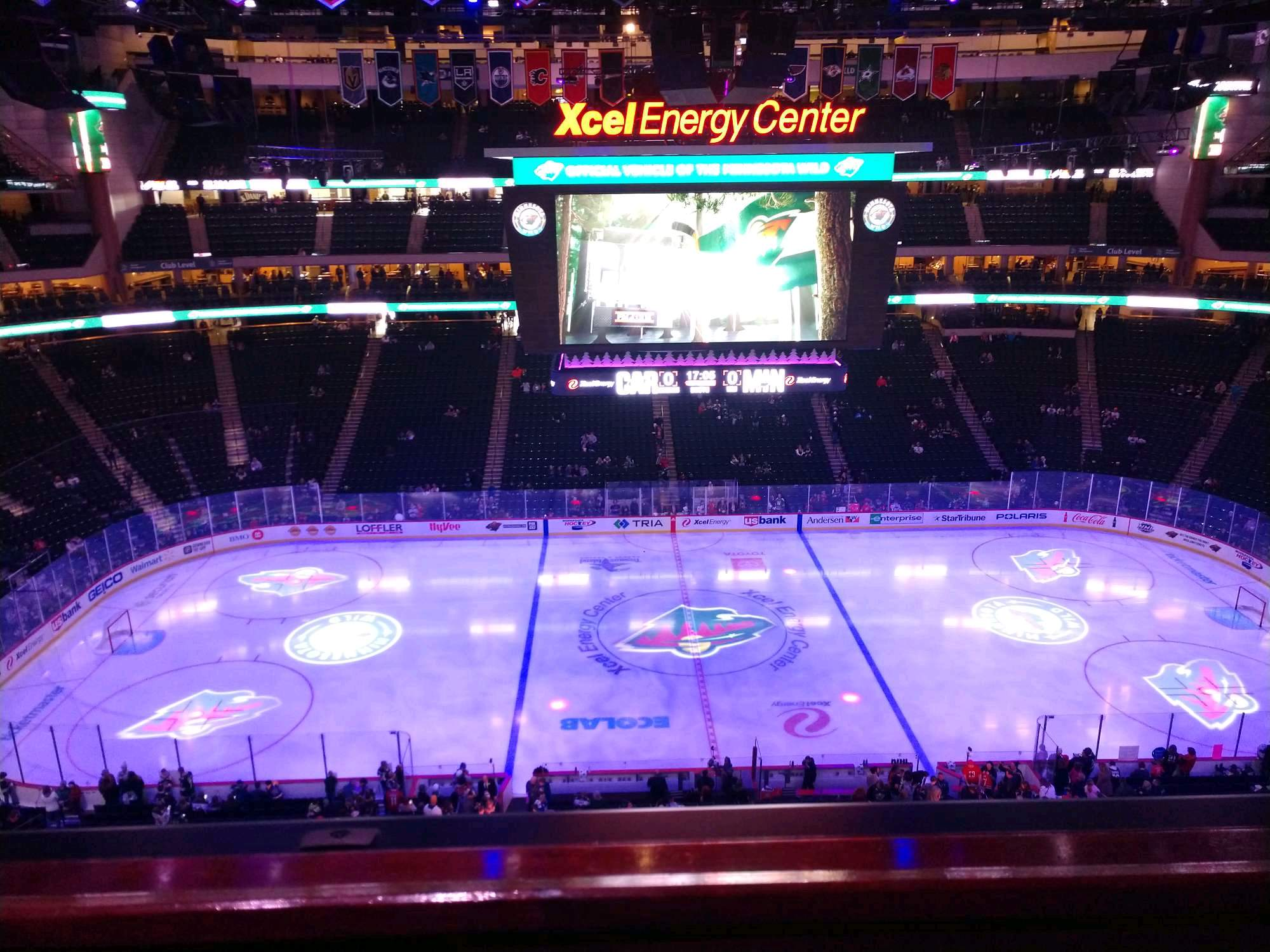 Xcel Energy Center Section 219 Row 1 Seat 19