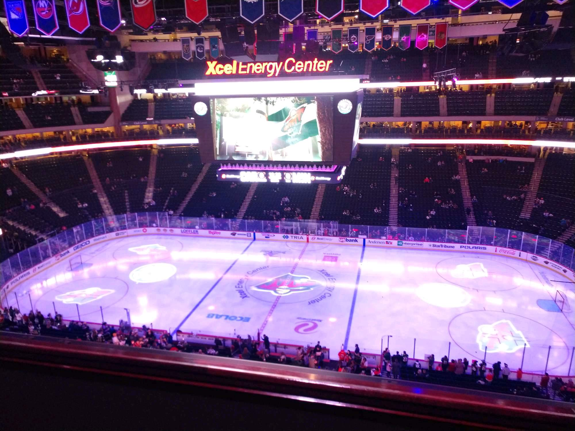 Xcel Energy Center Section 218 Row 2 Seat 10