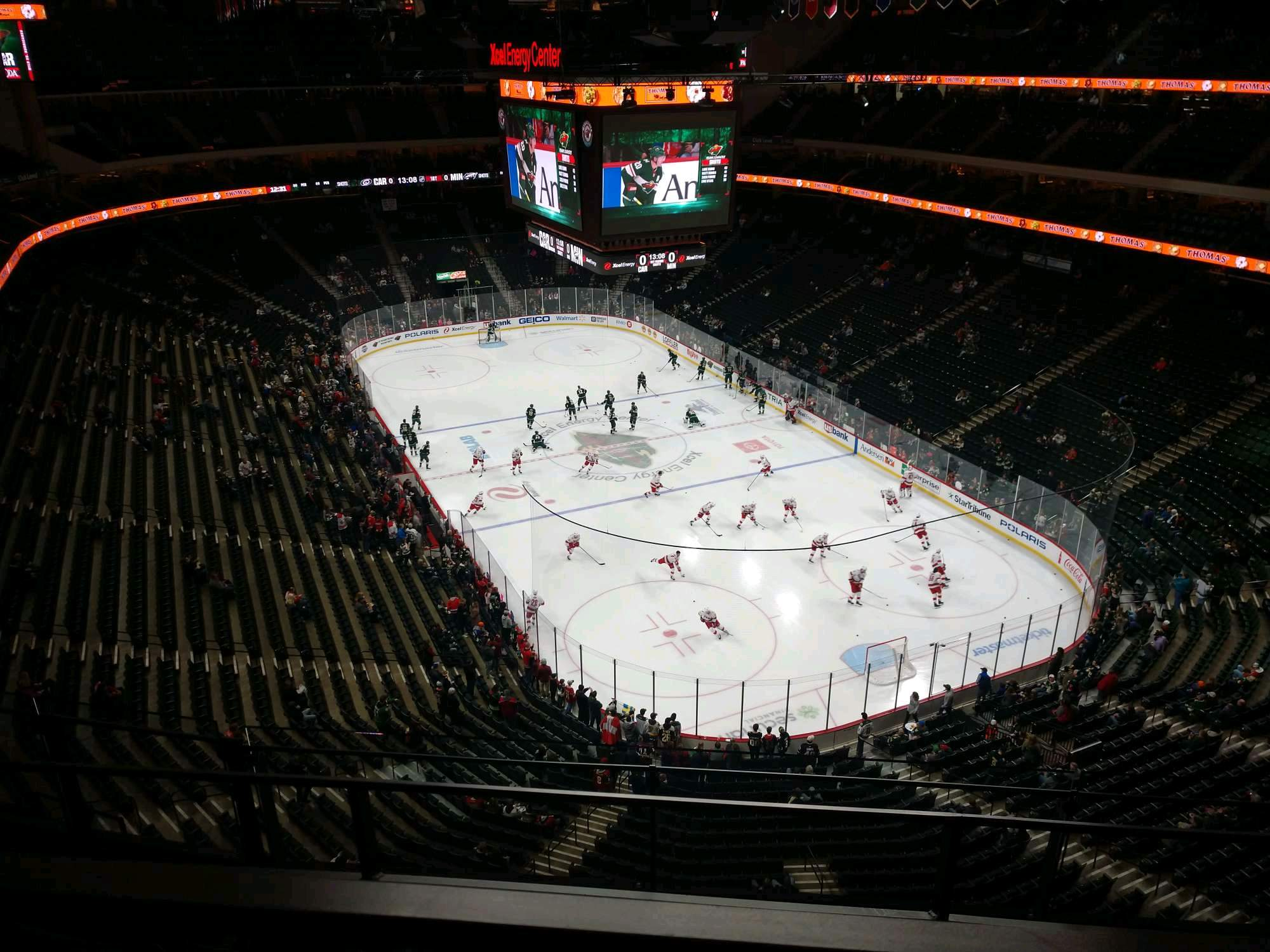 Xcel Energy Center Section 214 Row 3 Seat 10