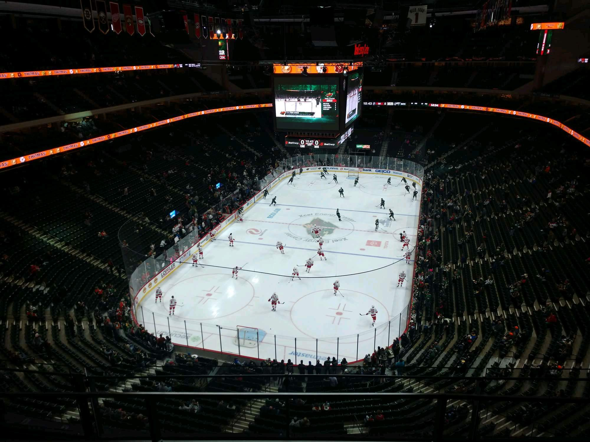 Xcel Energy Center Section 210 Row 3 Seat 10