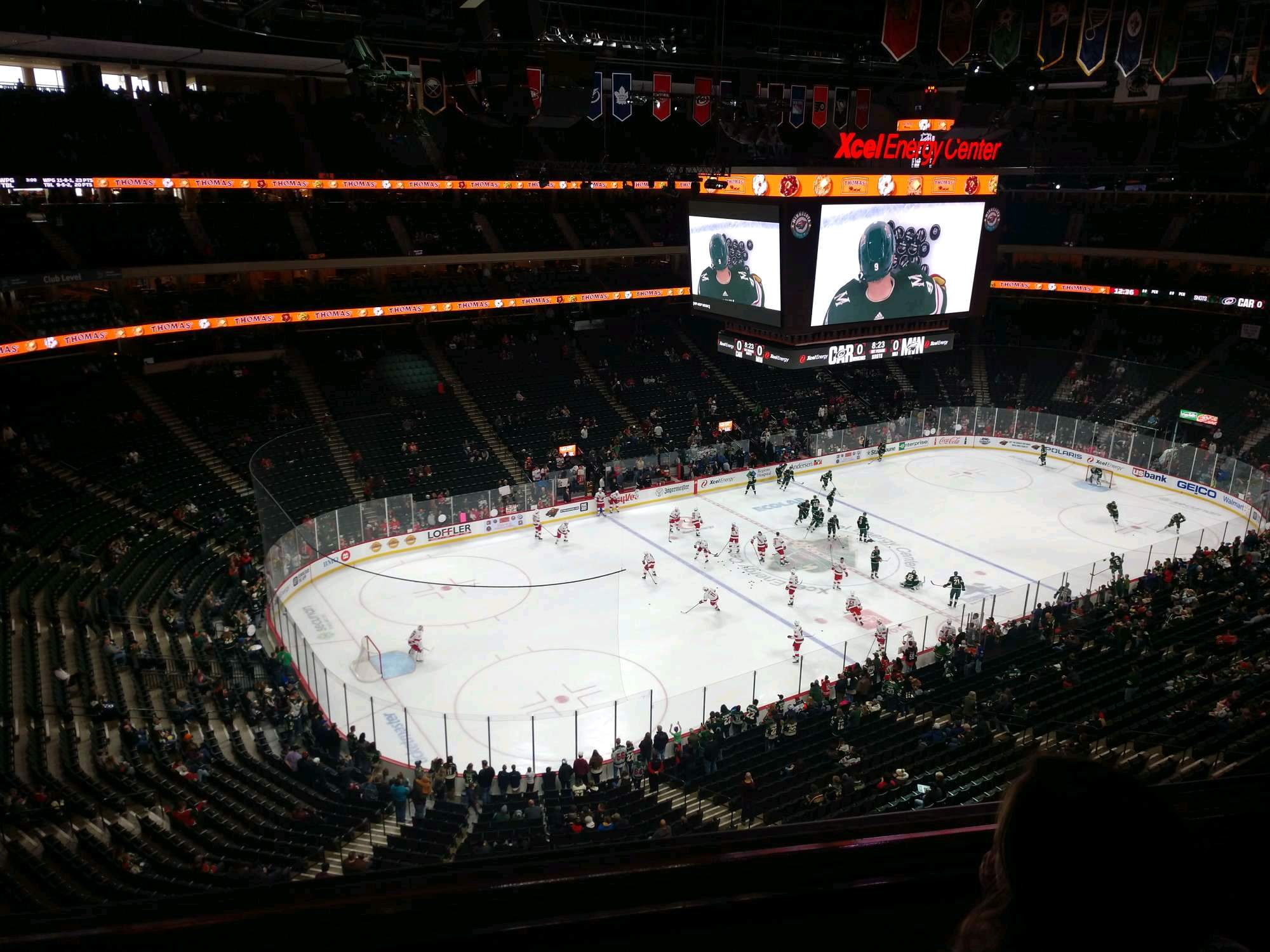 Xcel Energy Center Section 207 Row 2 Seat 23