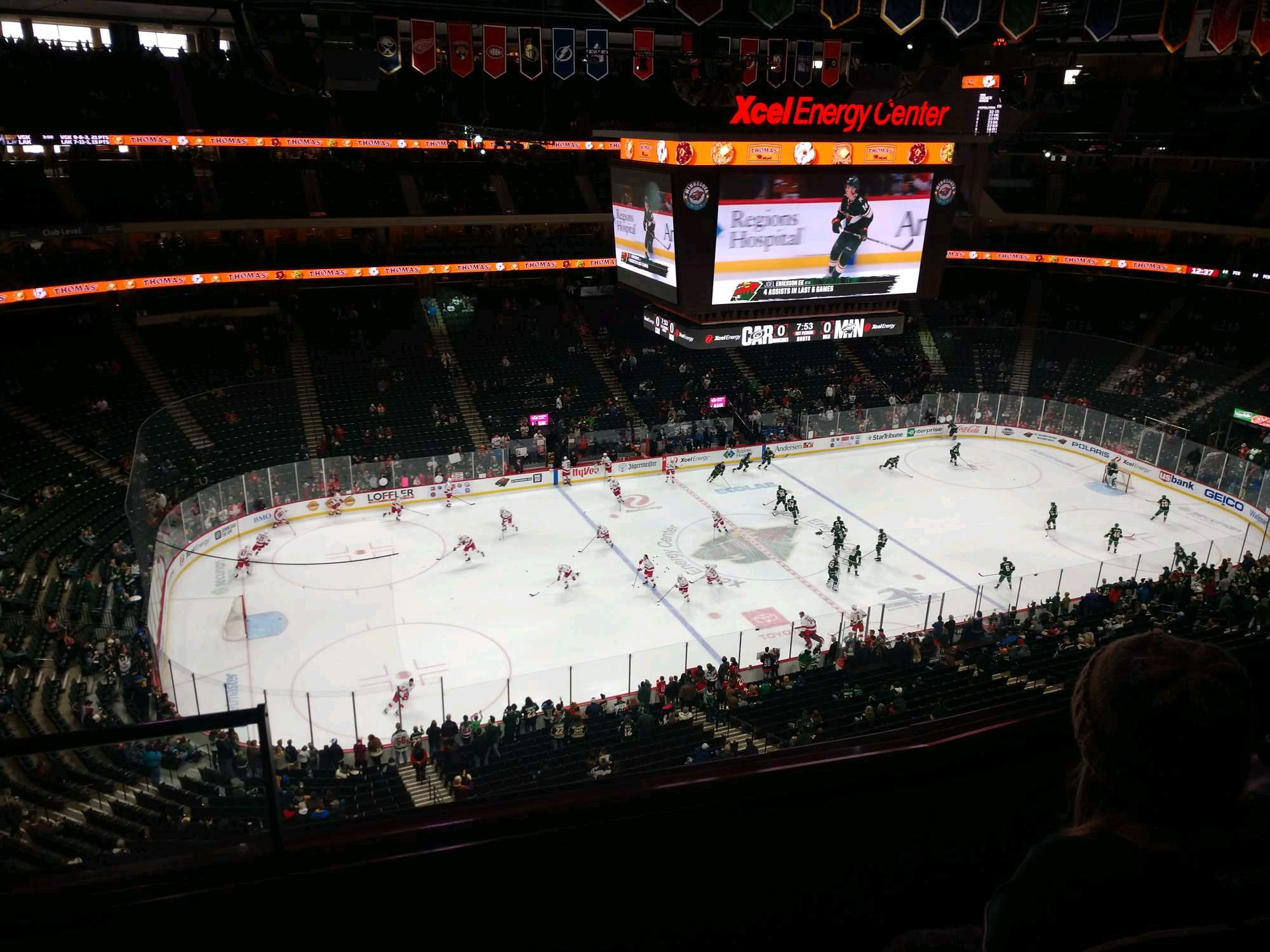 Xcel Energy Center Section 206 Row 3 Seat 20