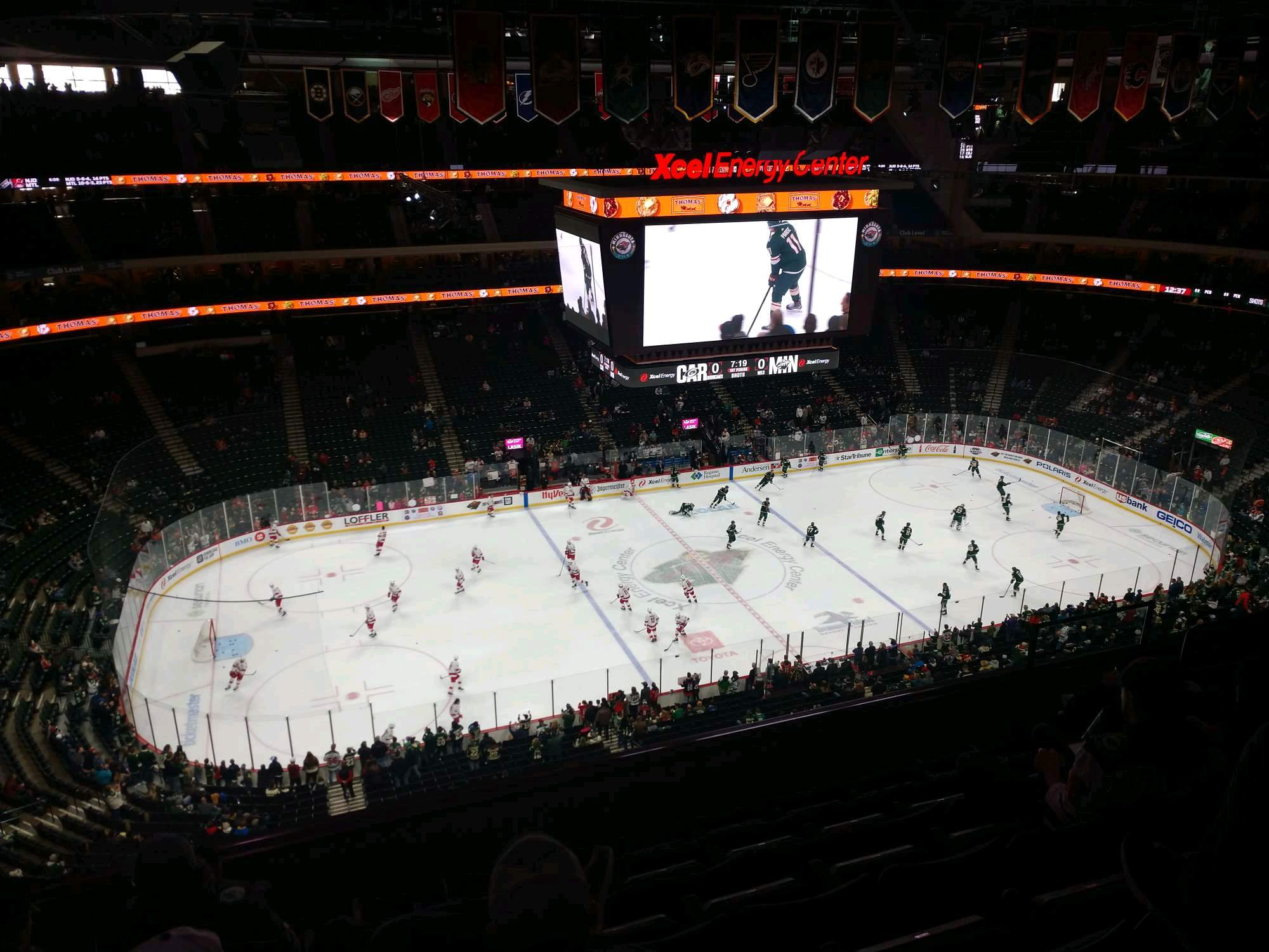 Xcel Energy Center Section 209 Row 7 Seat 12